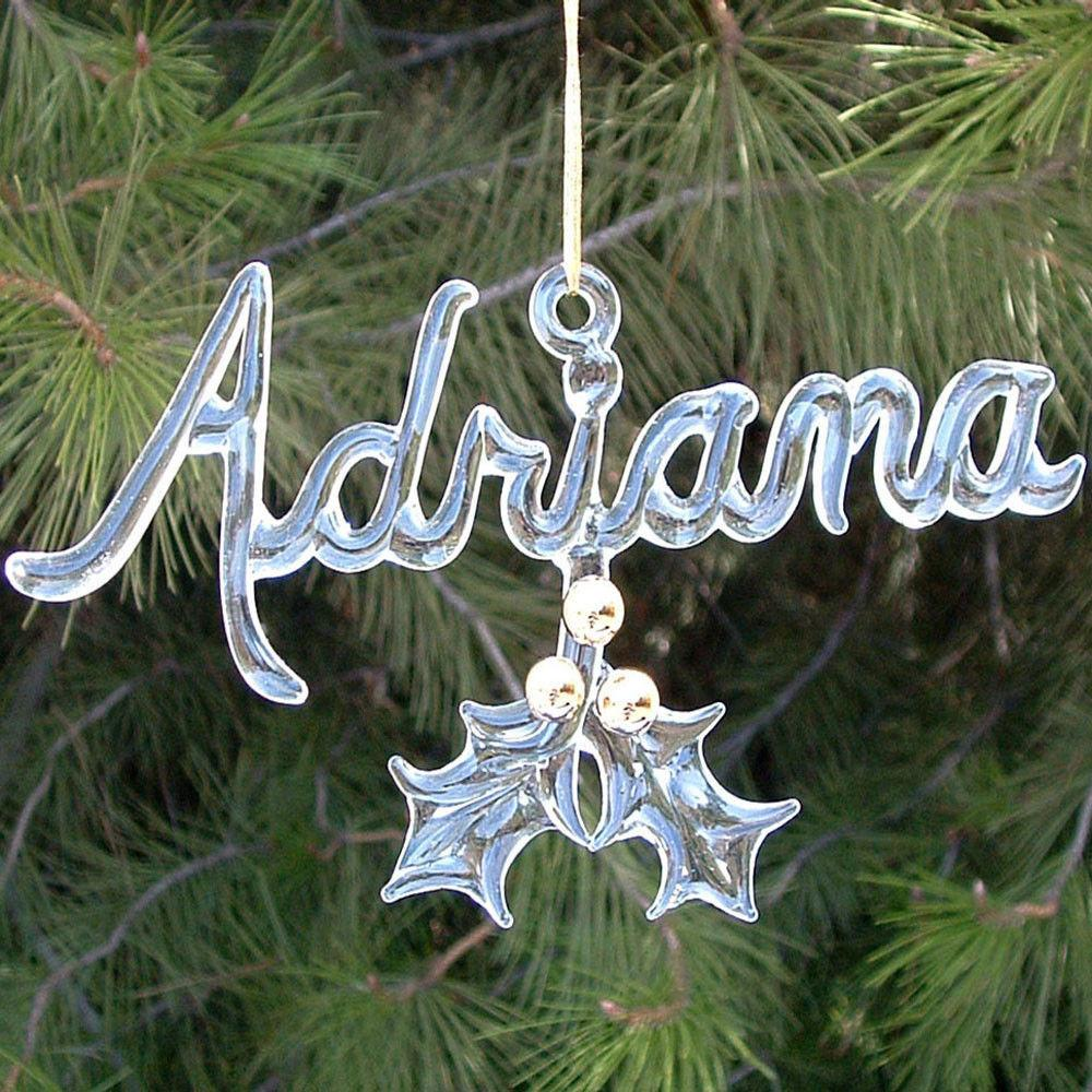 Personalized Hand Blown Glass Christmas Tree Ornament