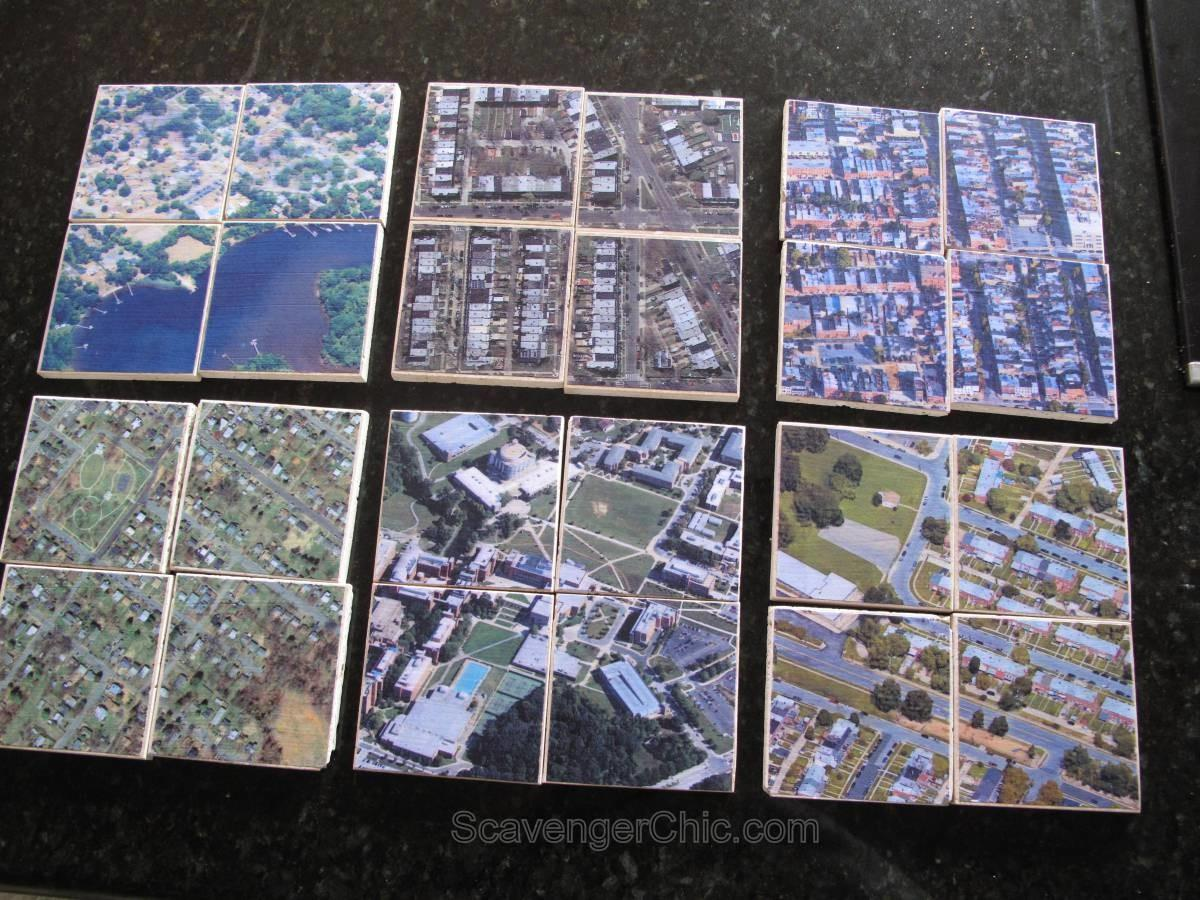 Personalized Hometown Map Coasters Scavenger Chic