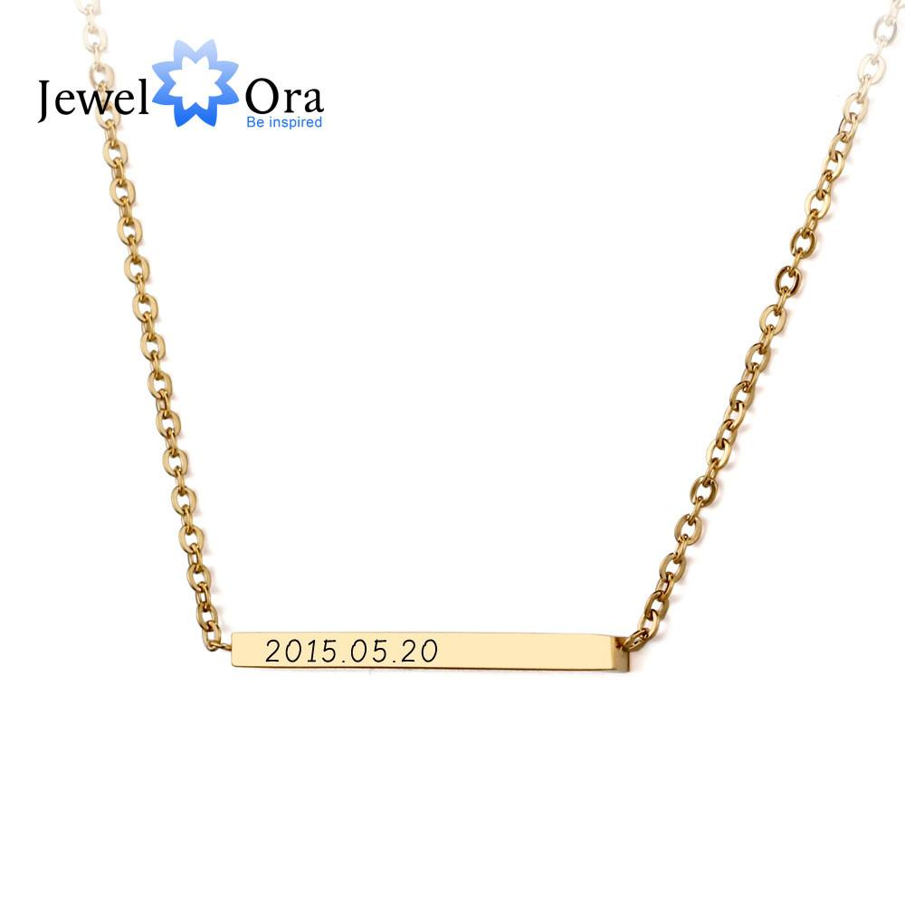 Personalized Name Necklace Diy Gold Plated Stainless Steel