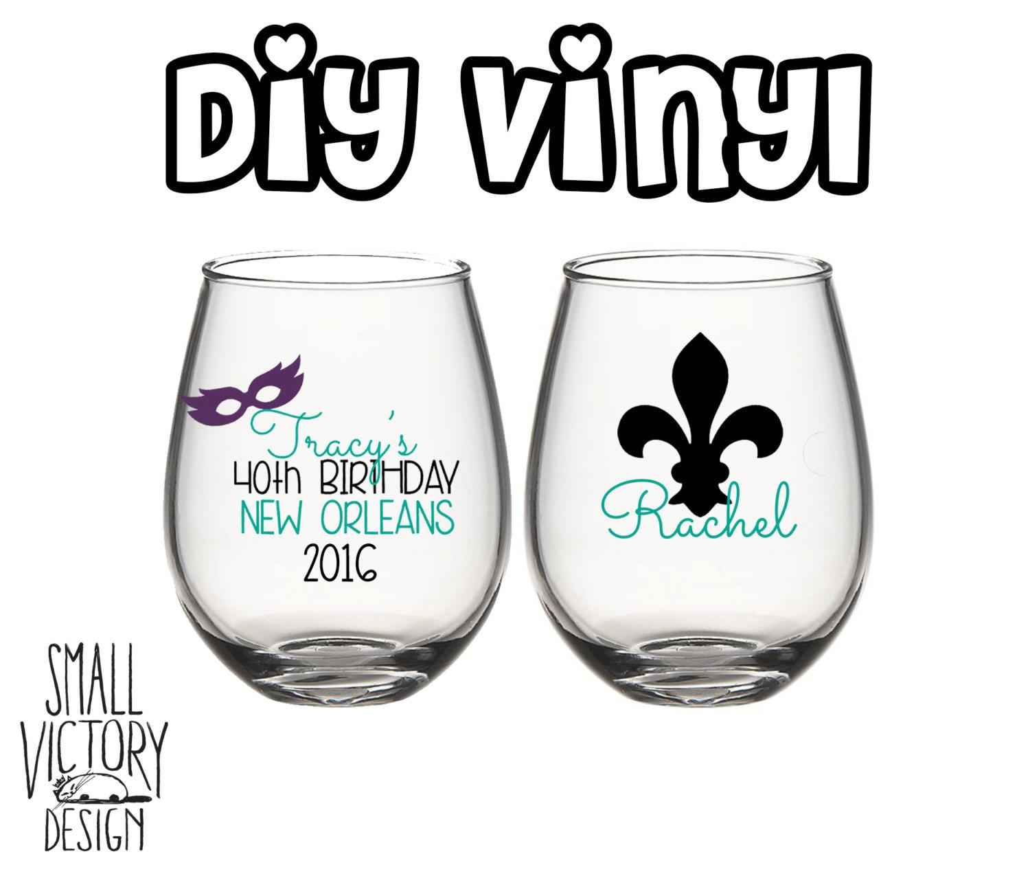 Personalized New Orleans Birthday Vinyl Decals Diy