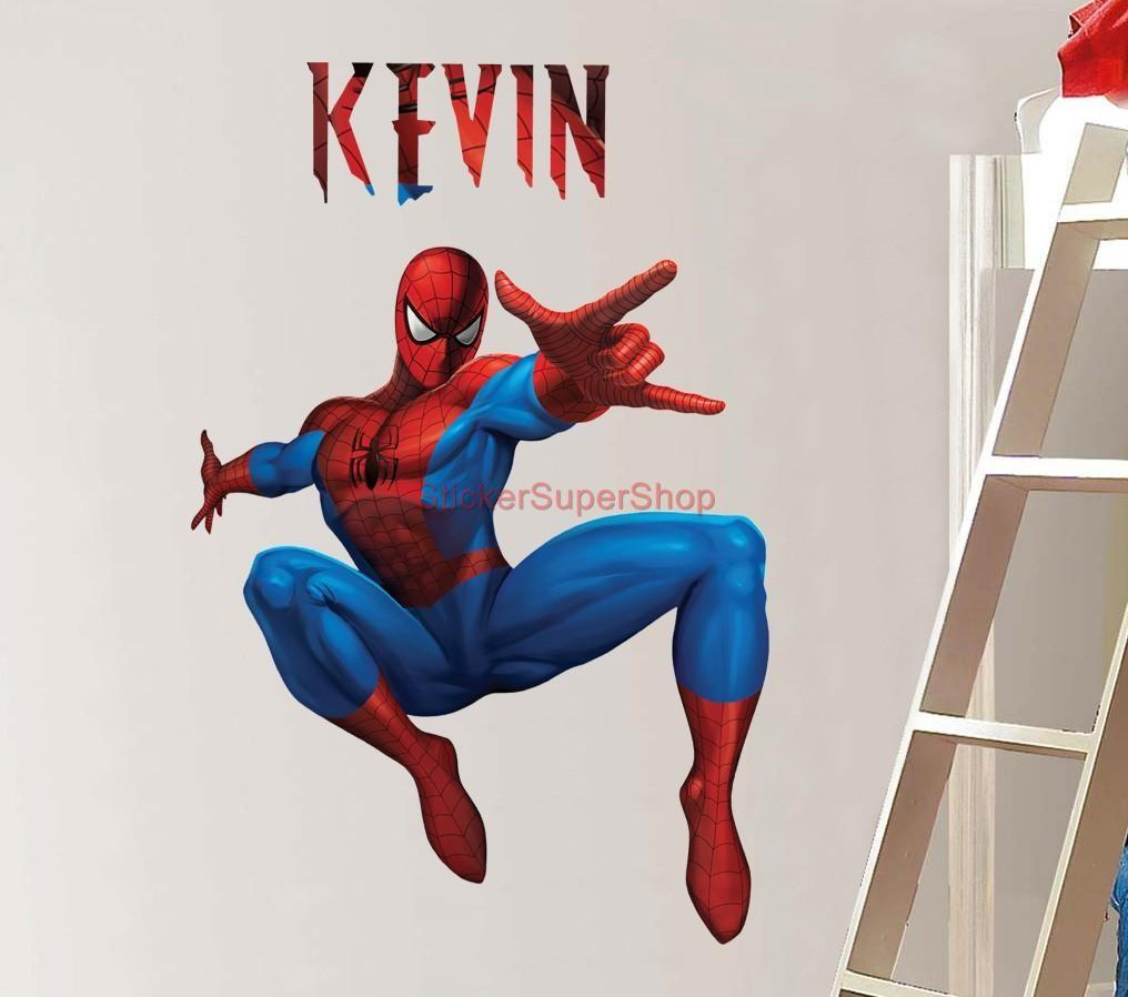 Personalized Spiderman Decal Removable Wall Sticker Home