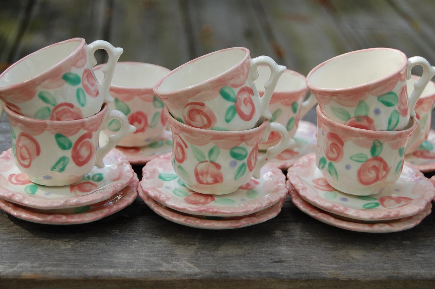 Personalized Tea Party Favors Shabby Chic
