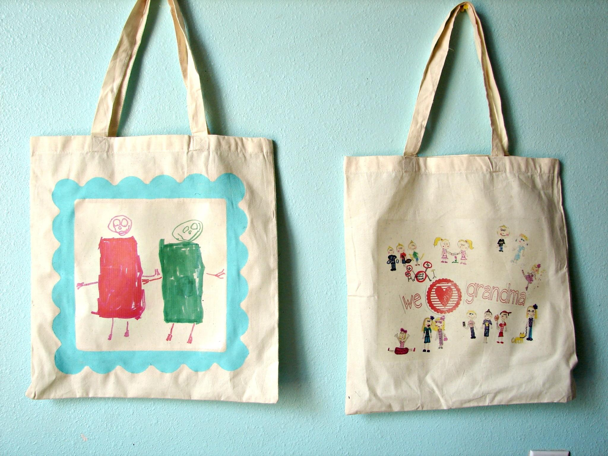 Personalized Tote Bags Kid Craft Monday