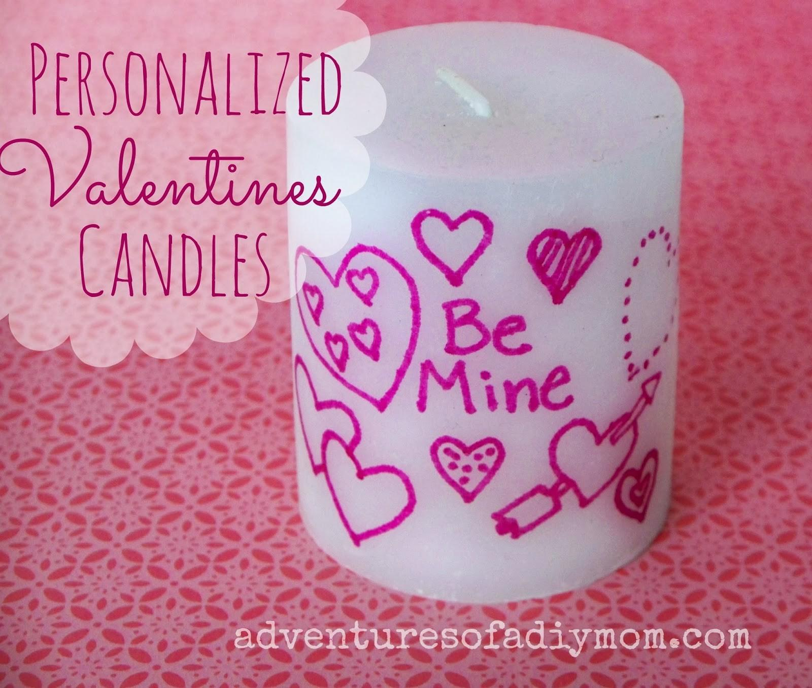 Personalized Valentines Candles Adventures Diy Mom
