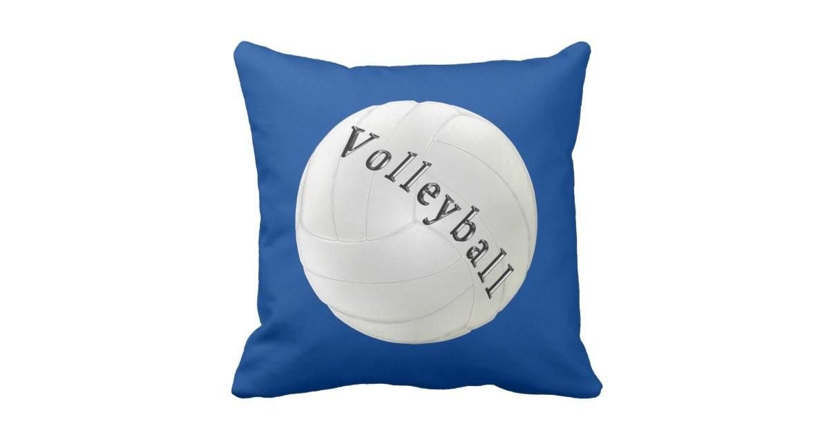 Personalized Volleyball Pillows Your Colors Text Throw