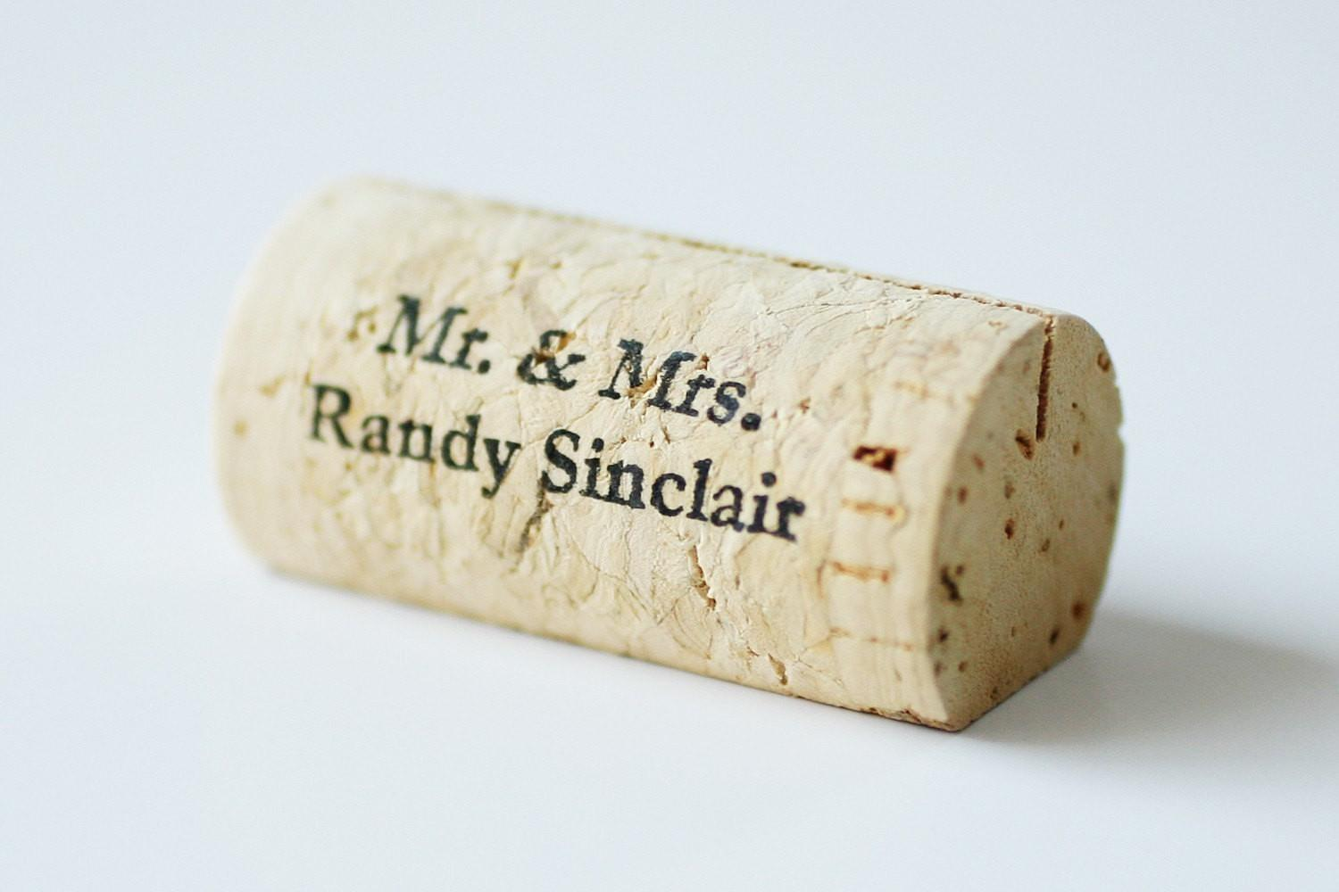 Personalized Wine Cork Place Card Holders Corkeycreations