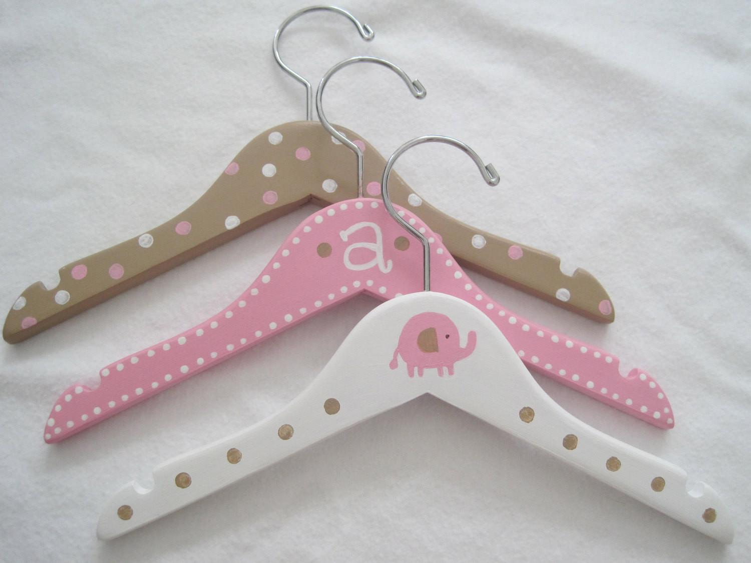 Personalized Wooden Painted Baby Hangers