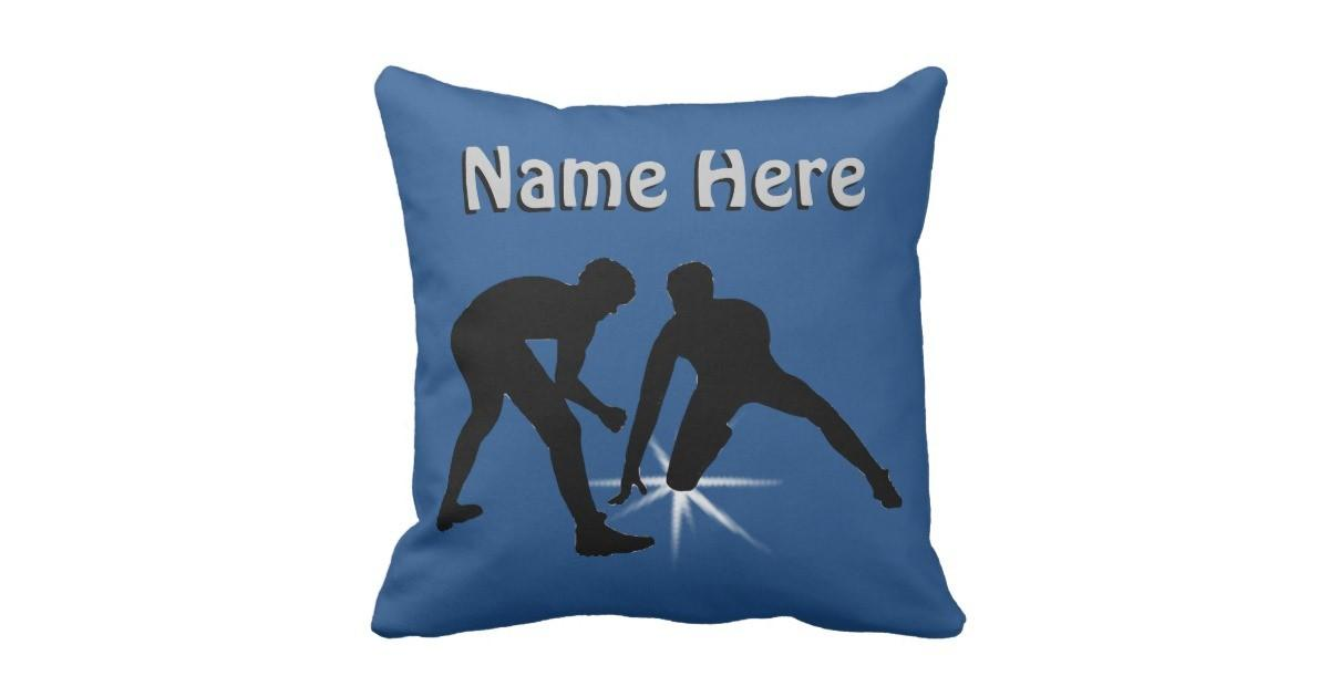 Personalized Wrestling Pillow Your Text Colors Zazzle