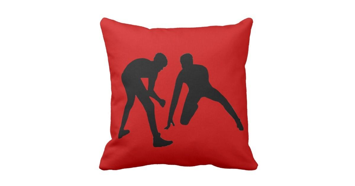 Personalized Wrestling Pillows Your Text Color Zazzle