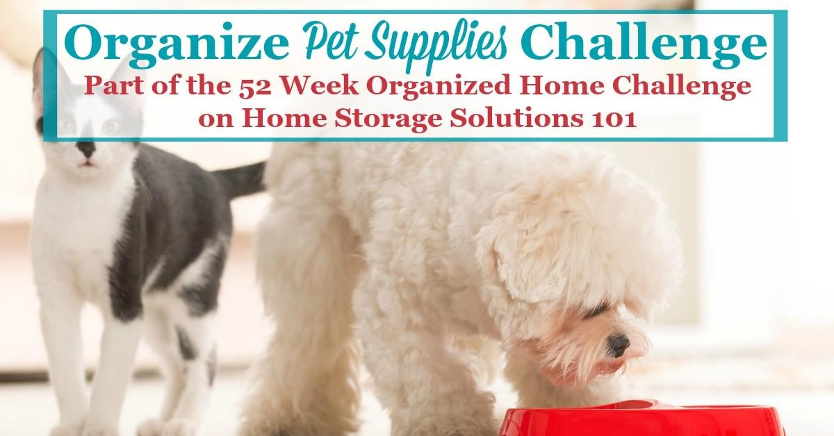 Pet Supply Storage Designs