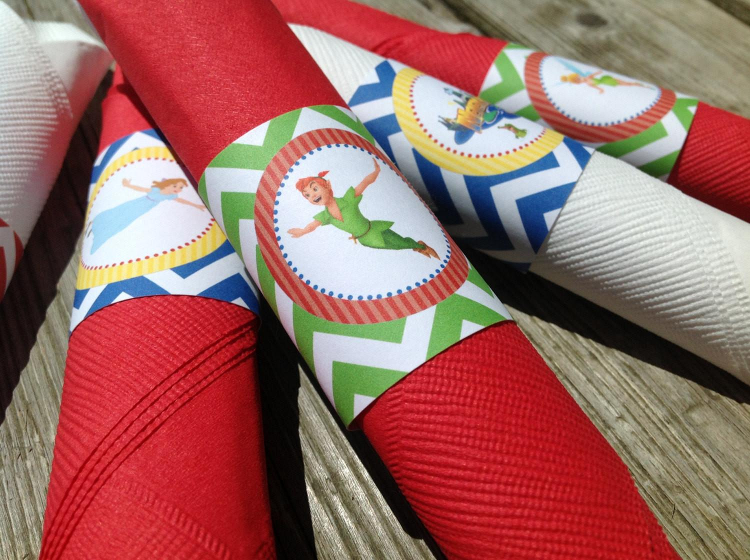 Peter Pan Inspired Party Napkin Rings Emeraldcitypaperie