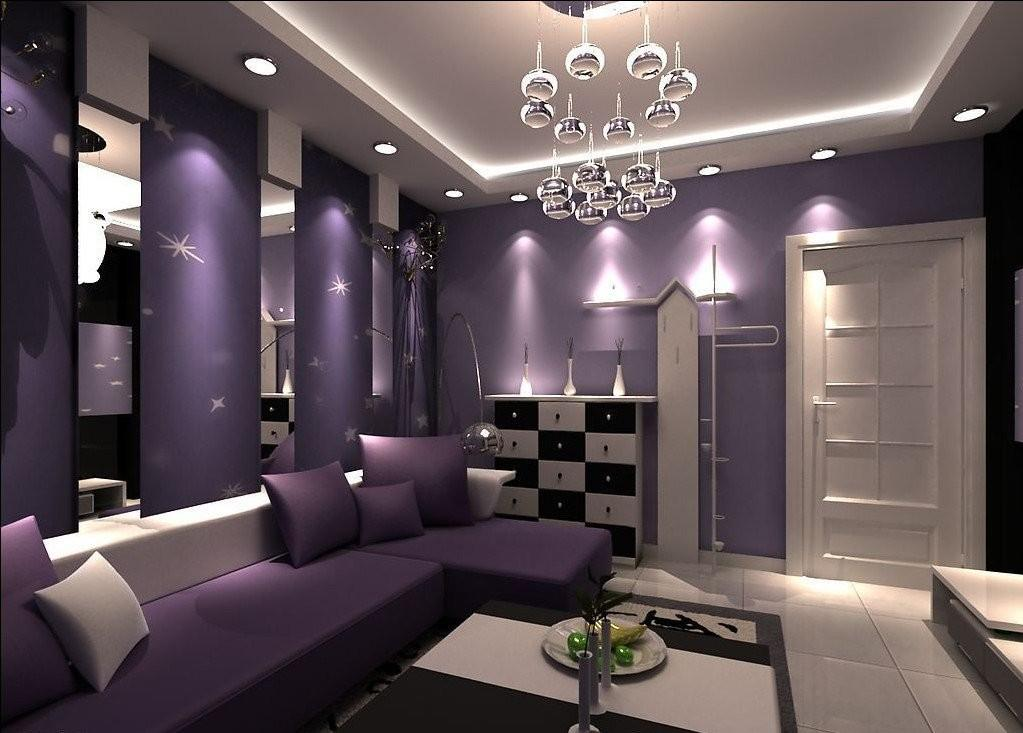 Phenomenal Purple Living Room Design Ideas
