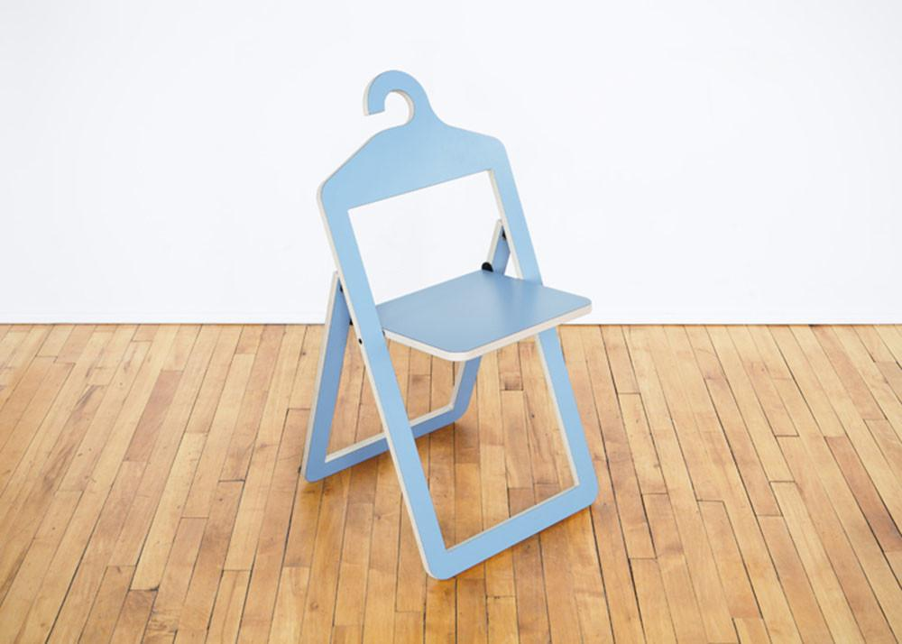 Philippe Malouin Designs Space Saving Hanger Chair Hybrid