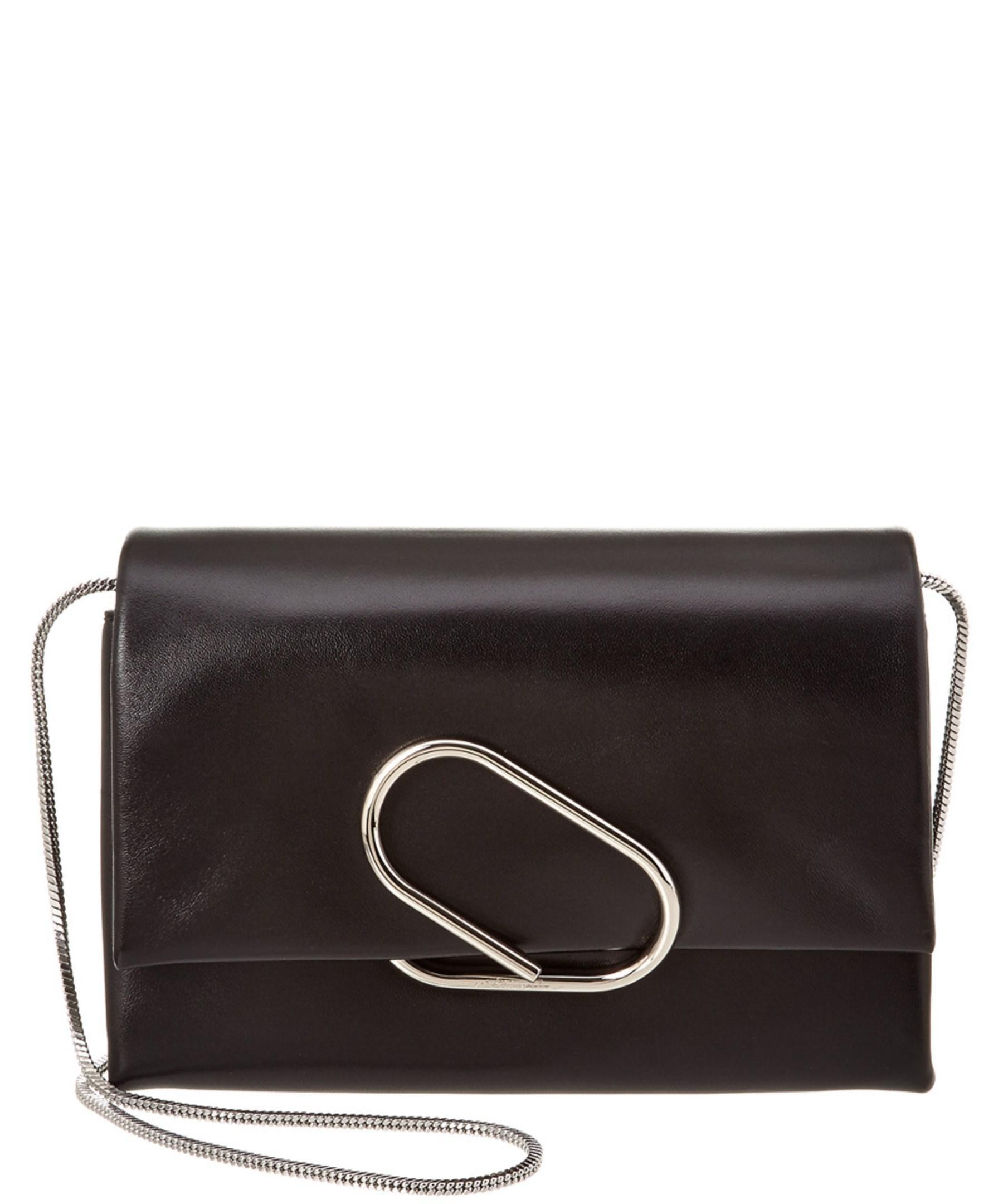 Phillip Lim Alix Leather Flap Clutch Black Lyst
