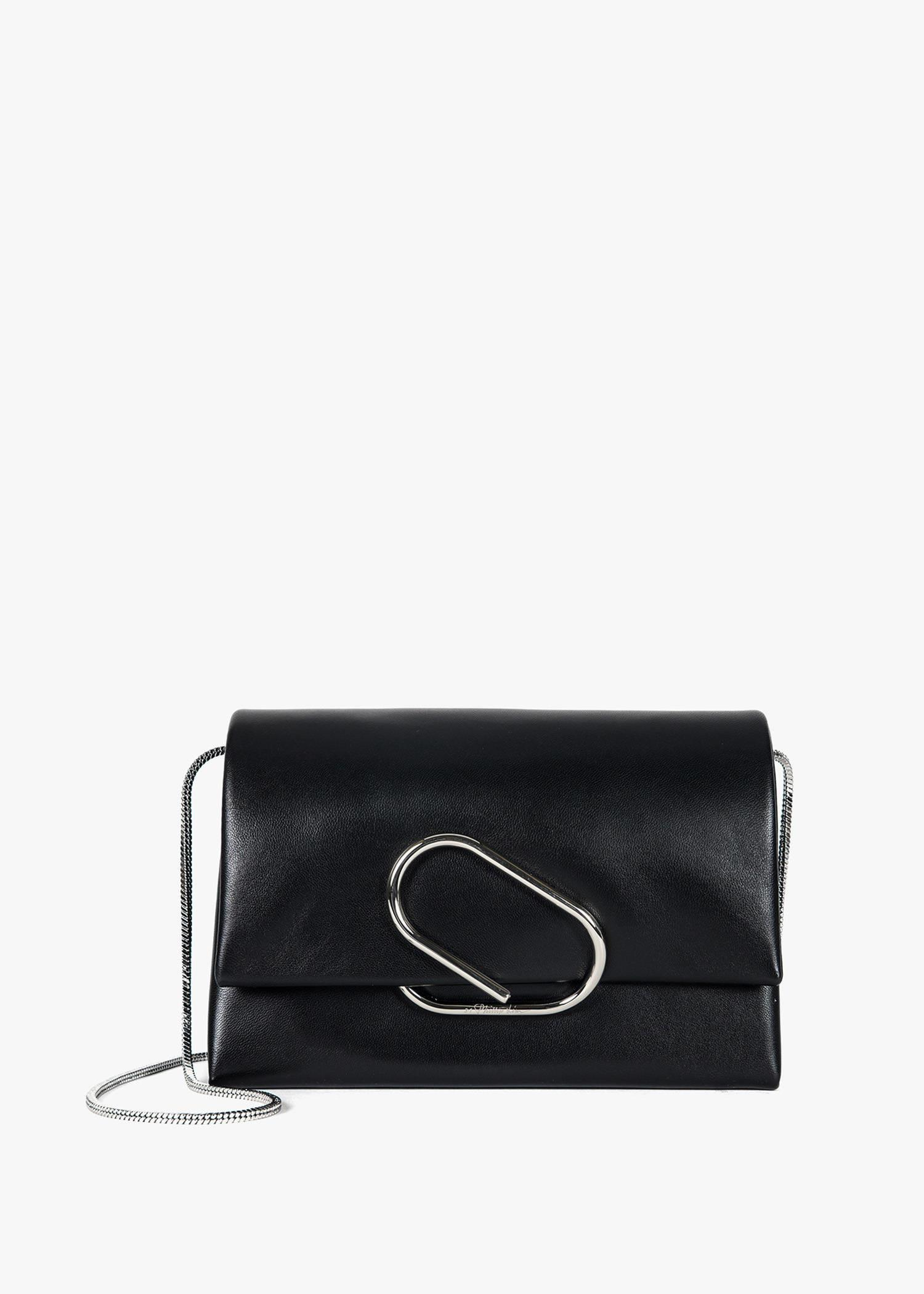 Phillip Lim Alix Paperclip Flap Leather Clutch