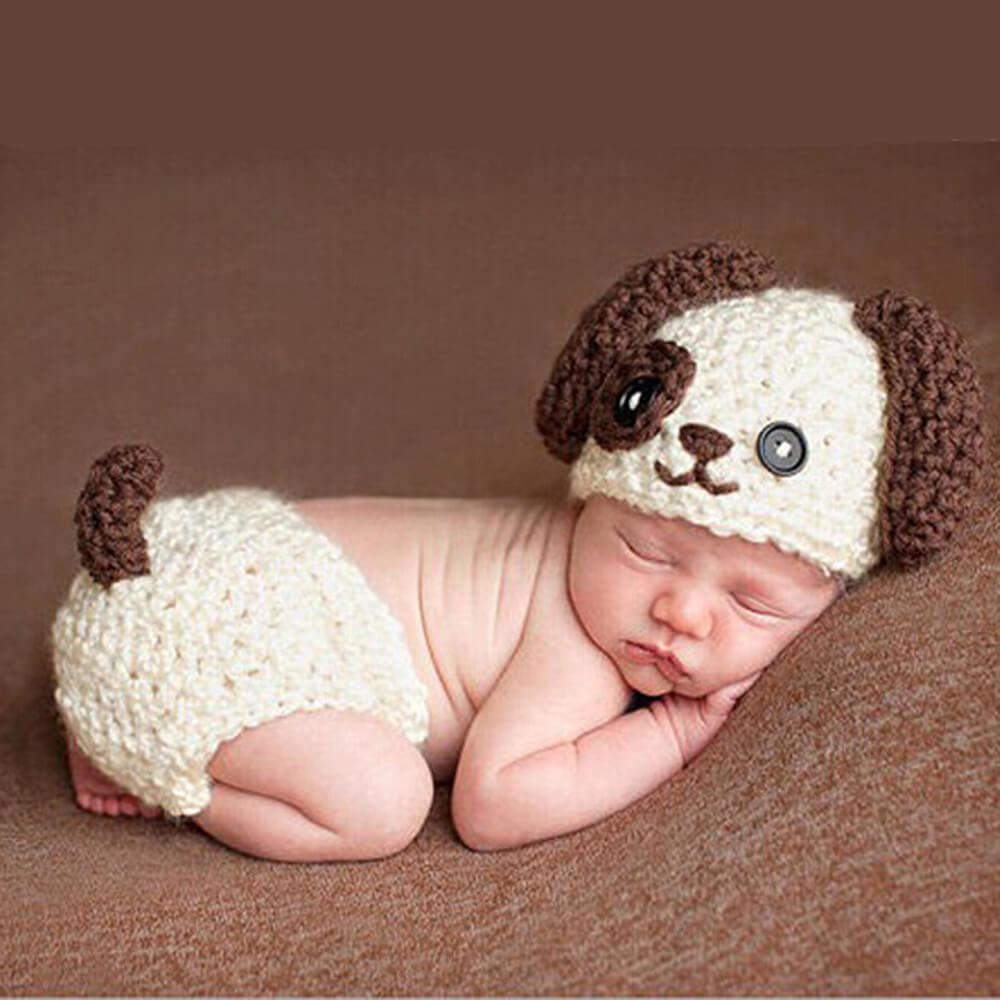 Photography Props Lovely Infant Baby Big Ears Dog Handmade
