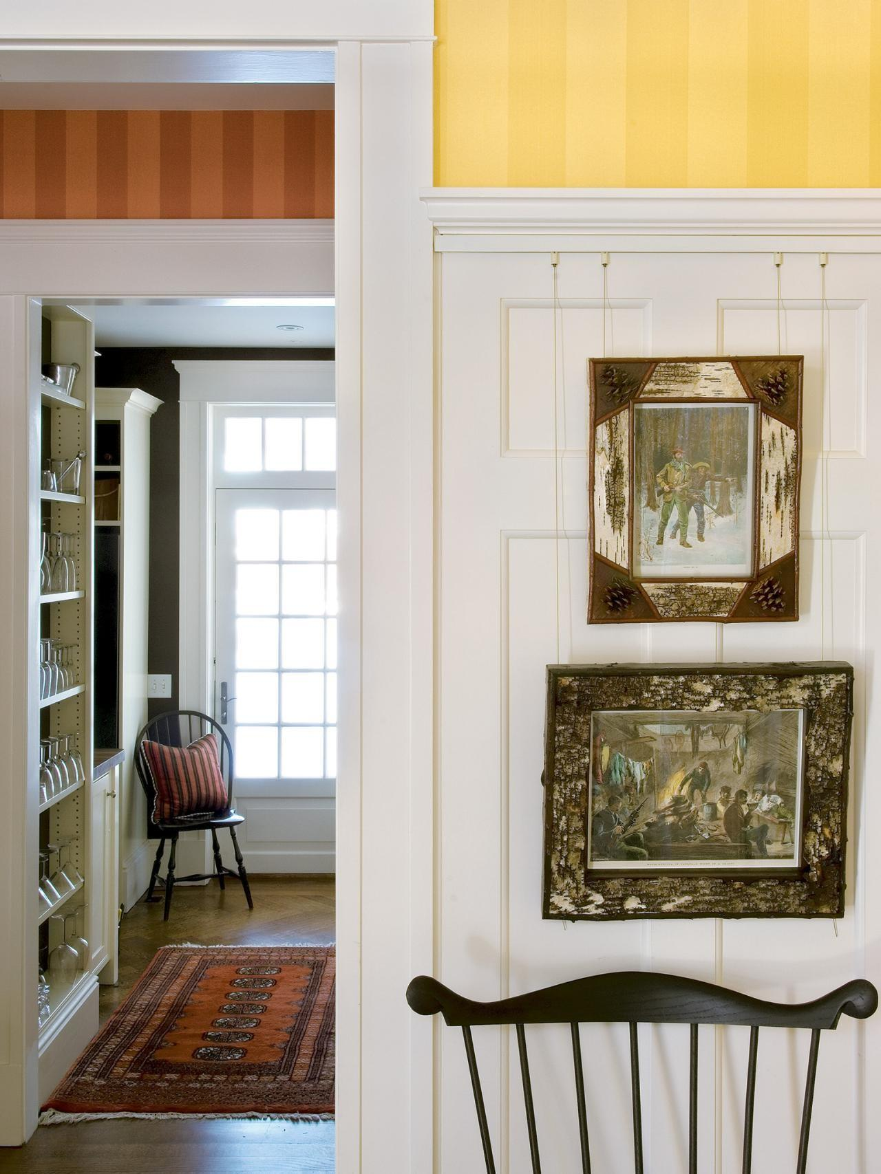 Photos Traditional Entryway Features Striped