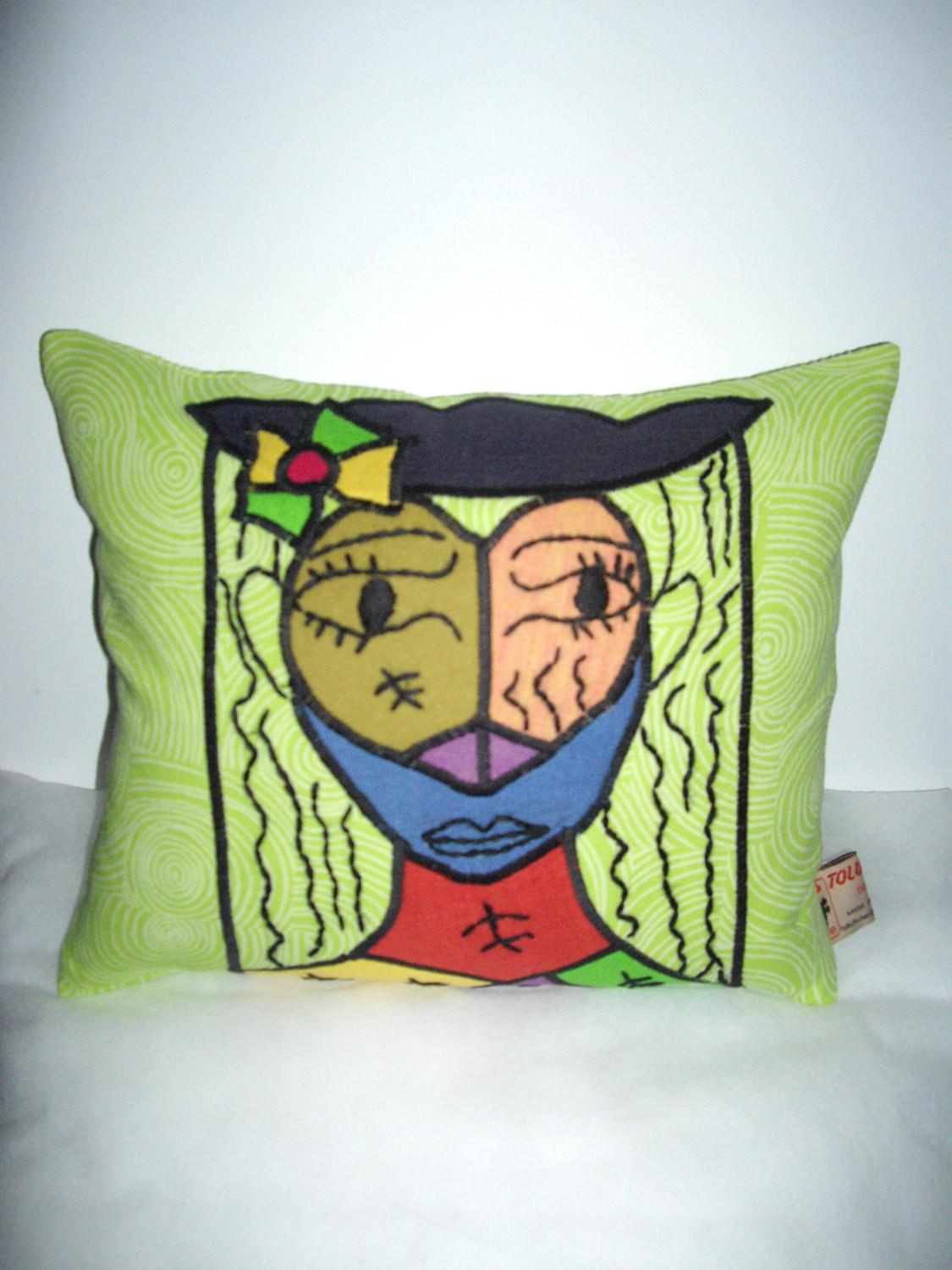 Picasso Inspired Cushion Cover Portrait Woman