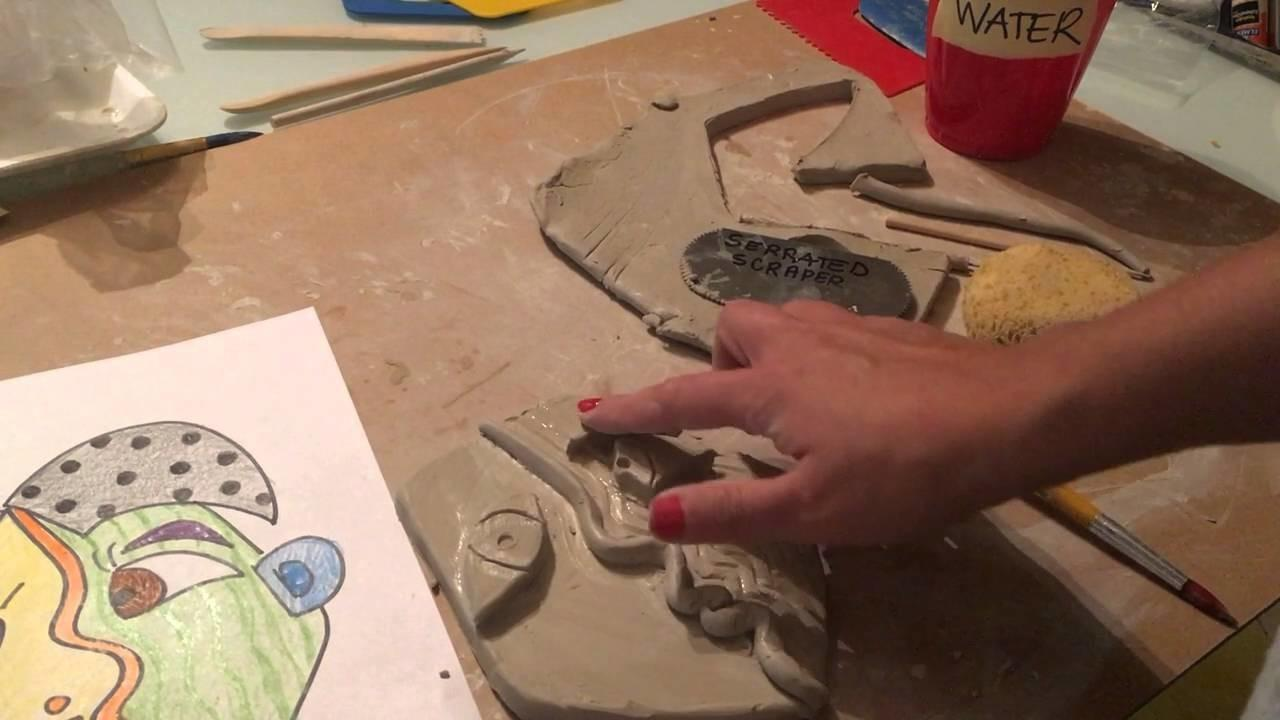 Picasso Portrait Clay Relief Demo Crafts Diy Projects