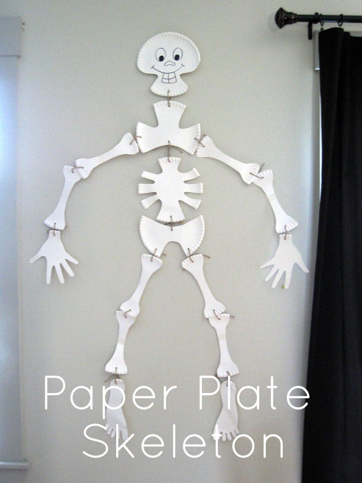 Pickup Some Creativity Paper Plate Skeleton Tutorial