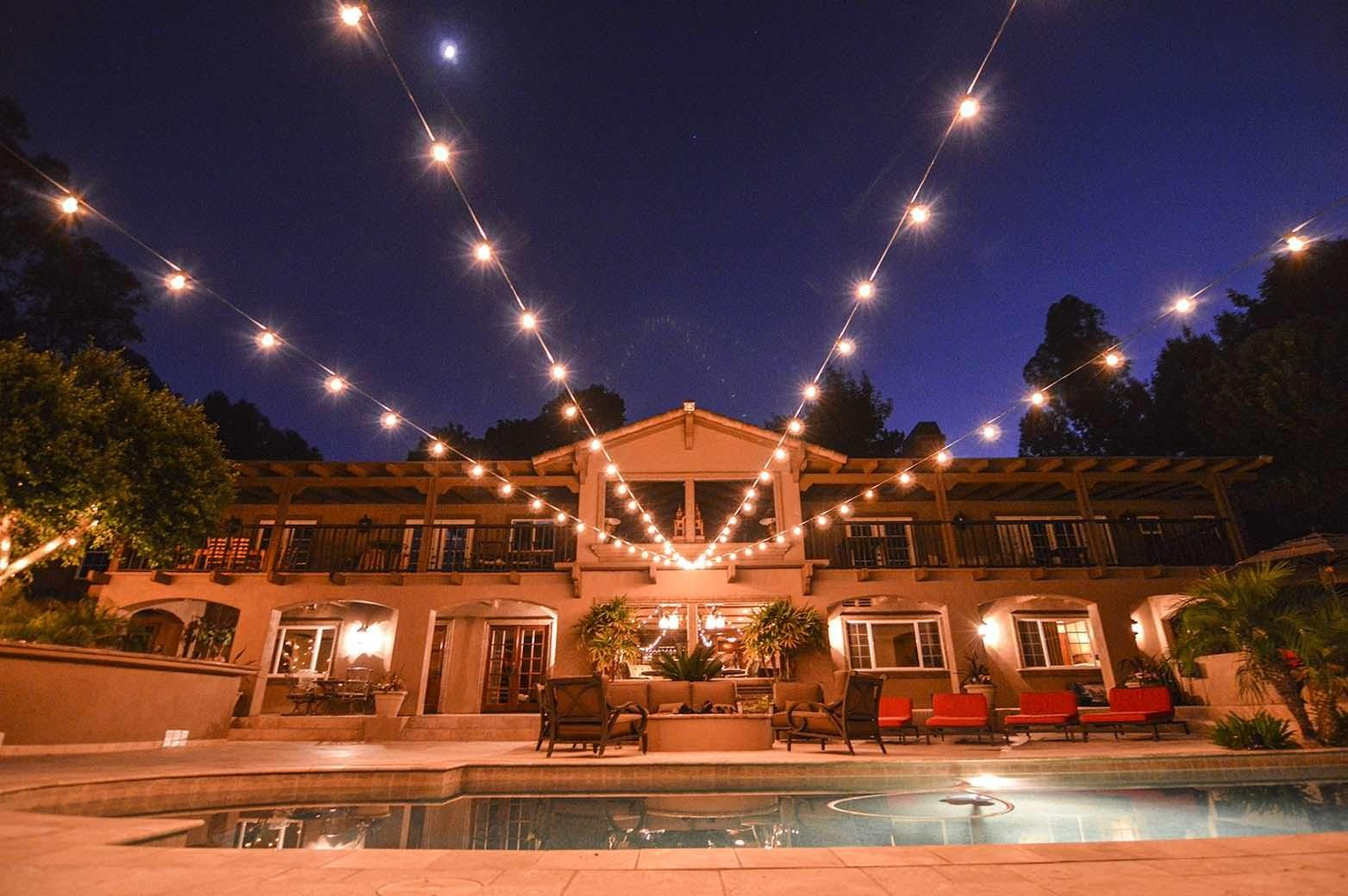 Pics String Lights Outdoor Party