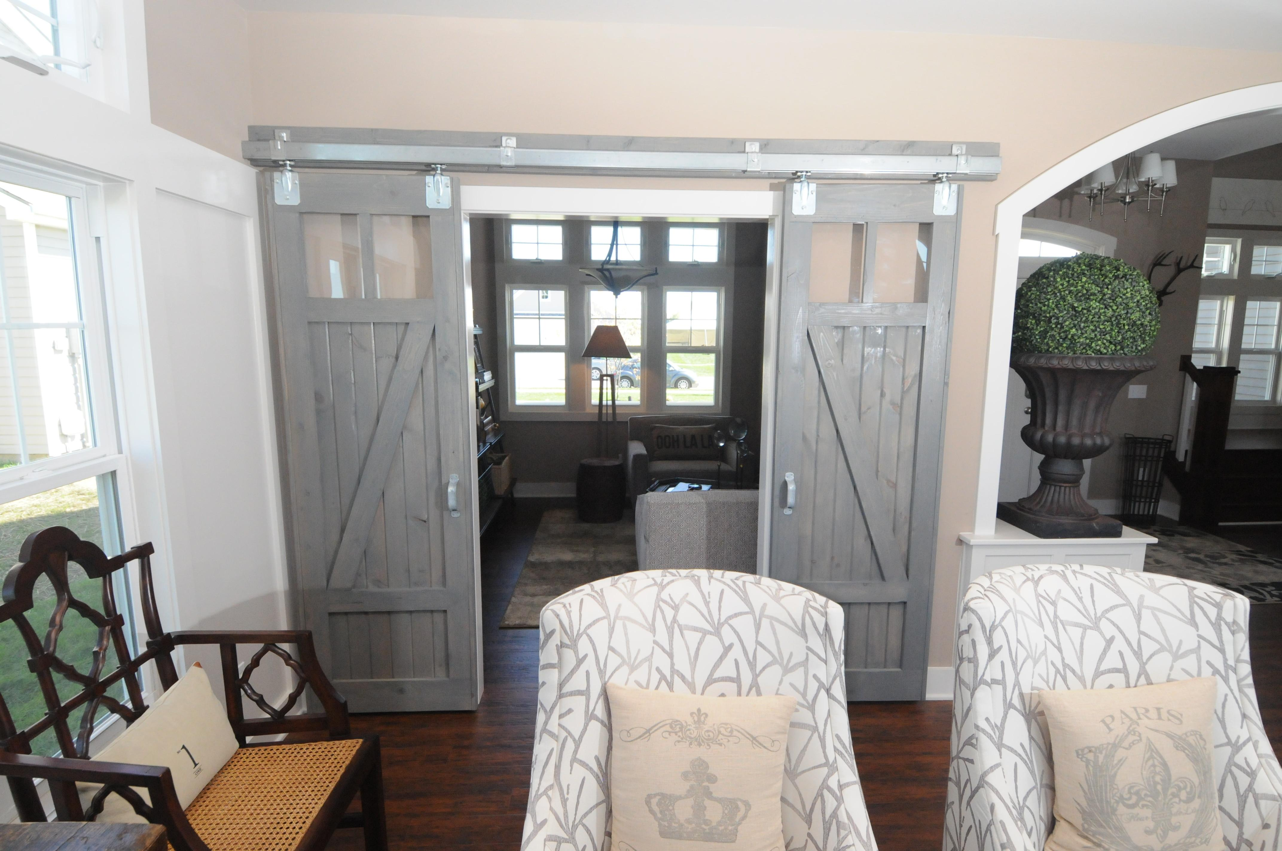 Picturesque Grey Finished Interior Barn Doors Homes
