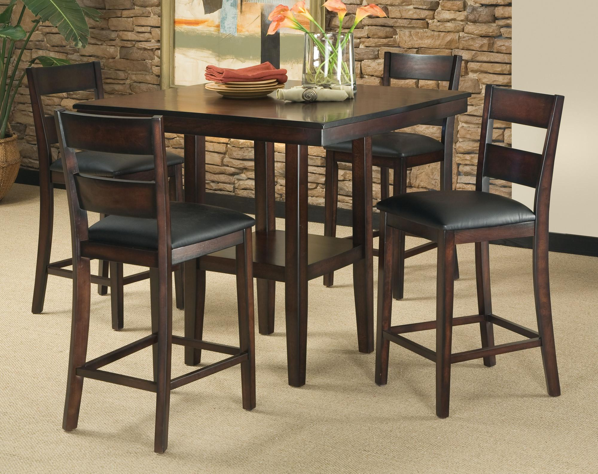 Piece Counter Height Dining Room Set Table Chair Dinette