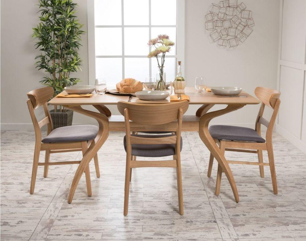 Piece Dining Set Wood Table Chair Kitchen Mid Century