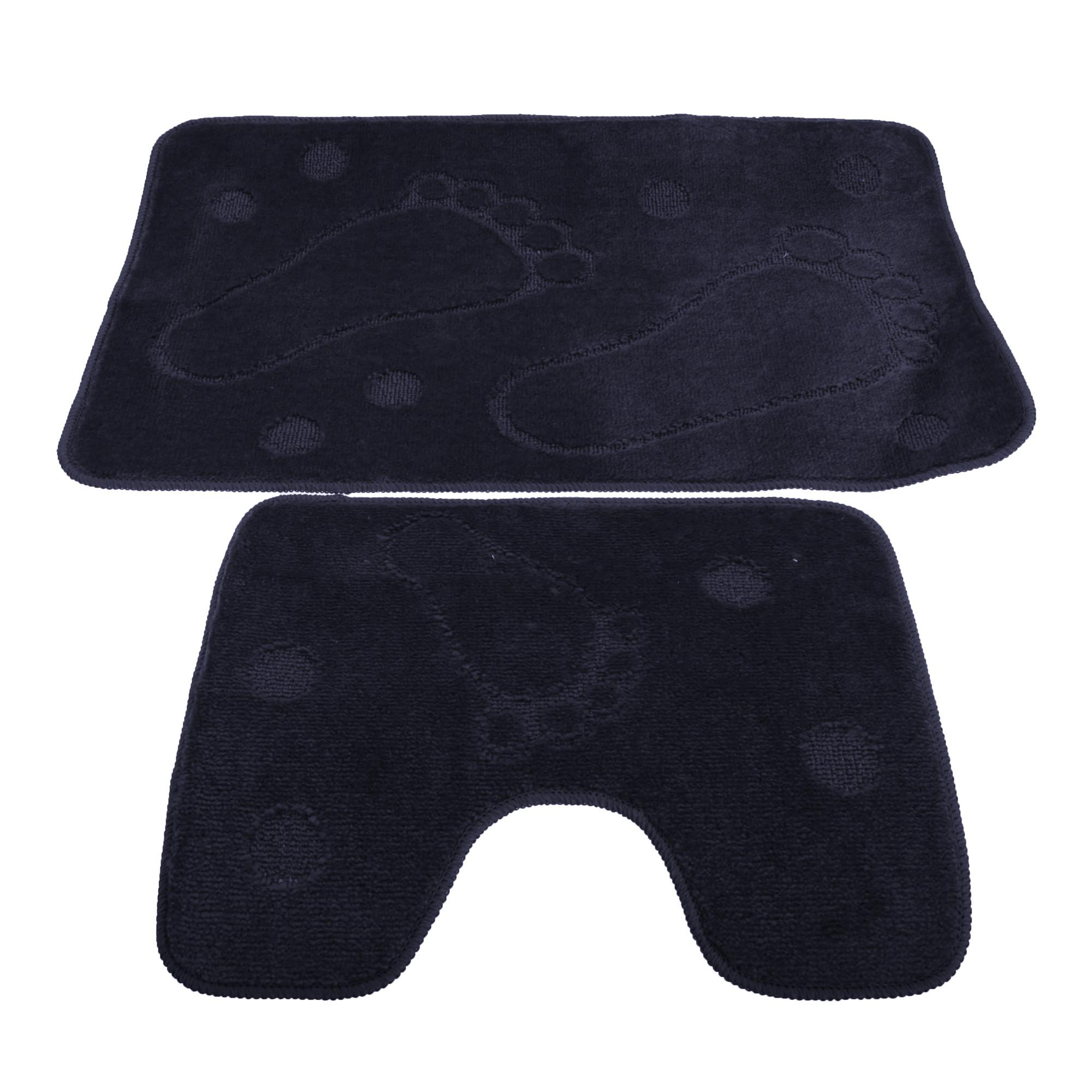 Piece Footprint Design Bathroom Bath Mat Pedestal