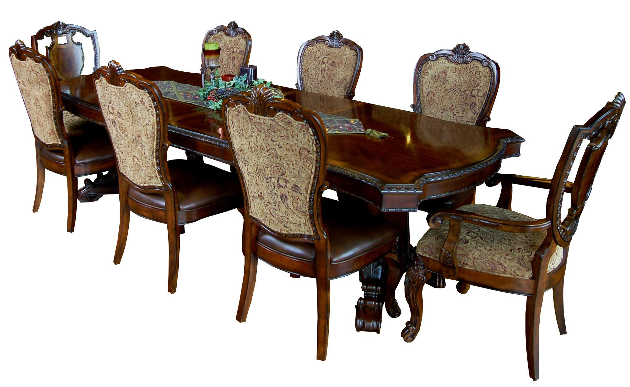 Piece Old World Dining Table Chair Set