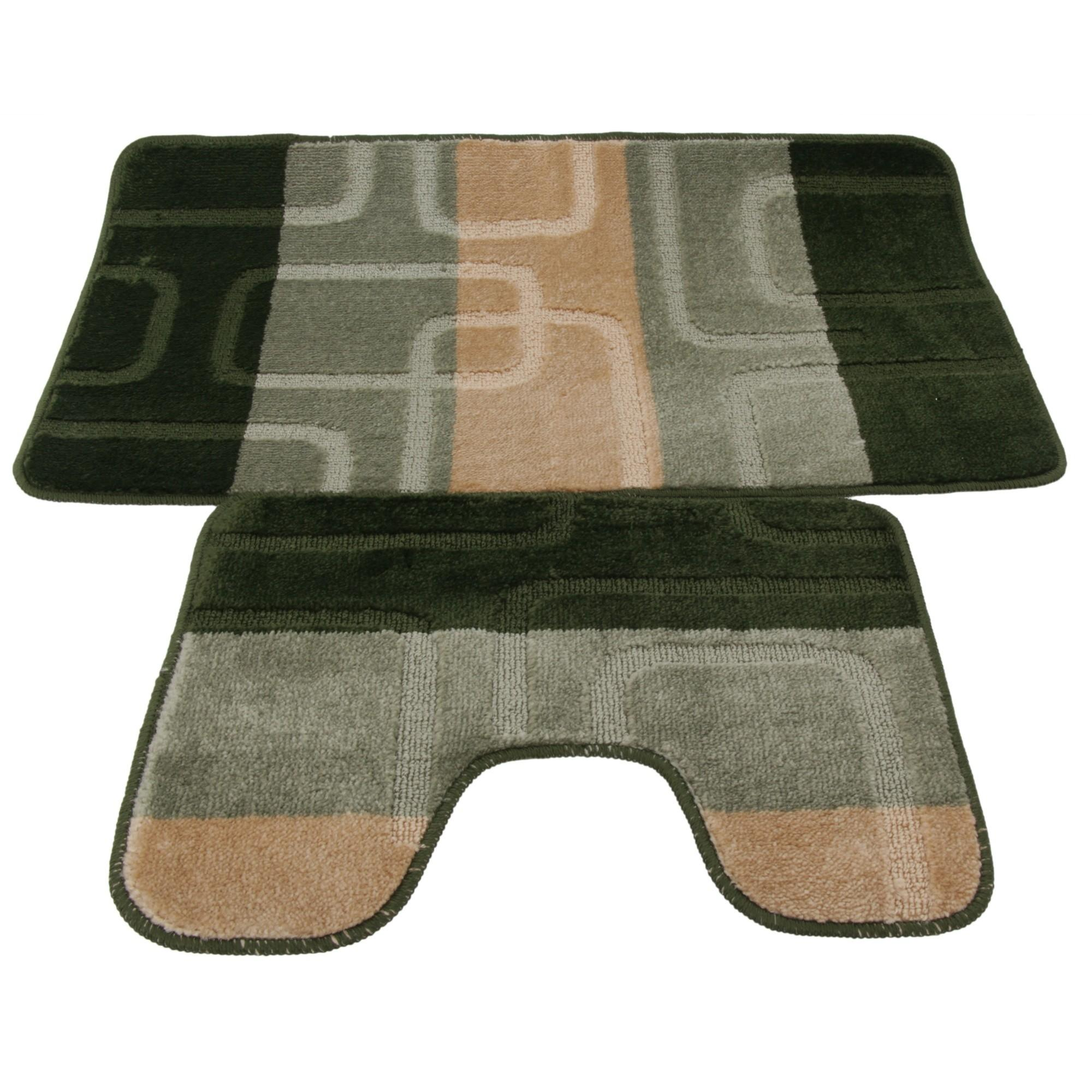 Piece Square Design Bath Mat Pedestal Set