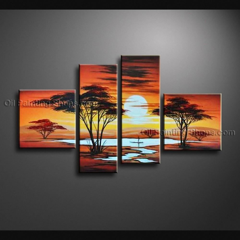 Pieces Contemporary Wall Art Landscape Painting