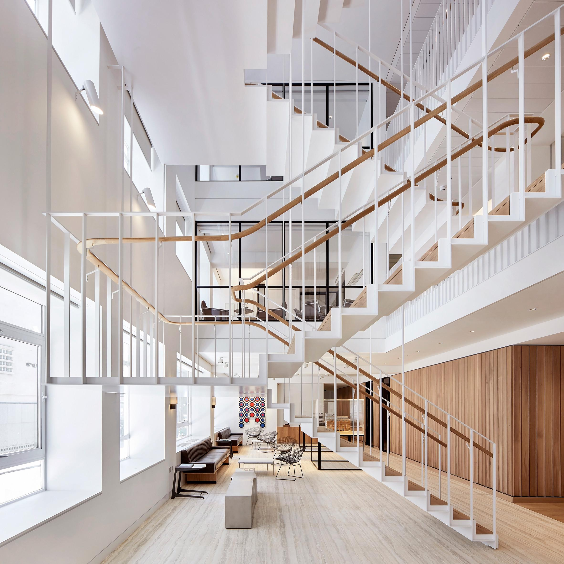 Piercy Company Suspends Staircase New Atrium