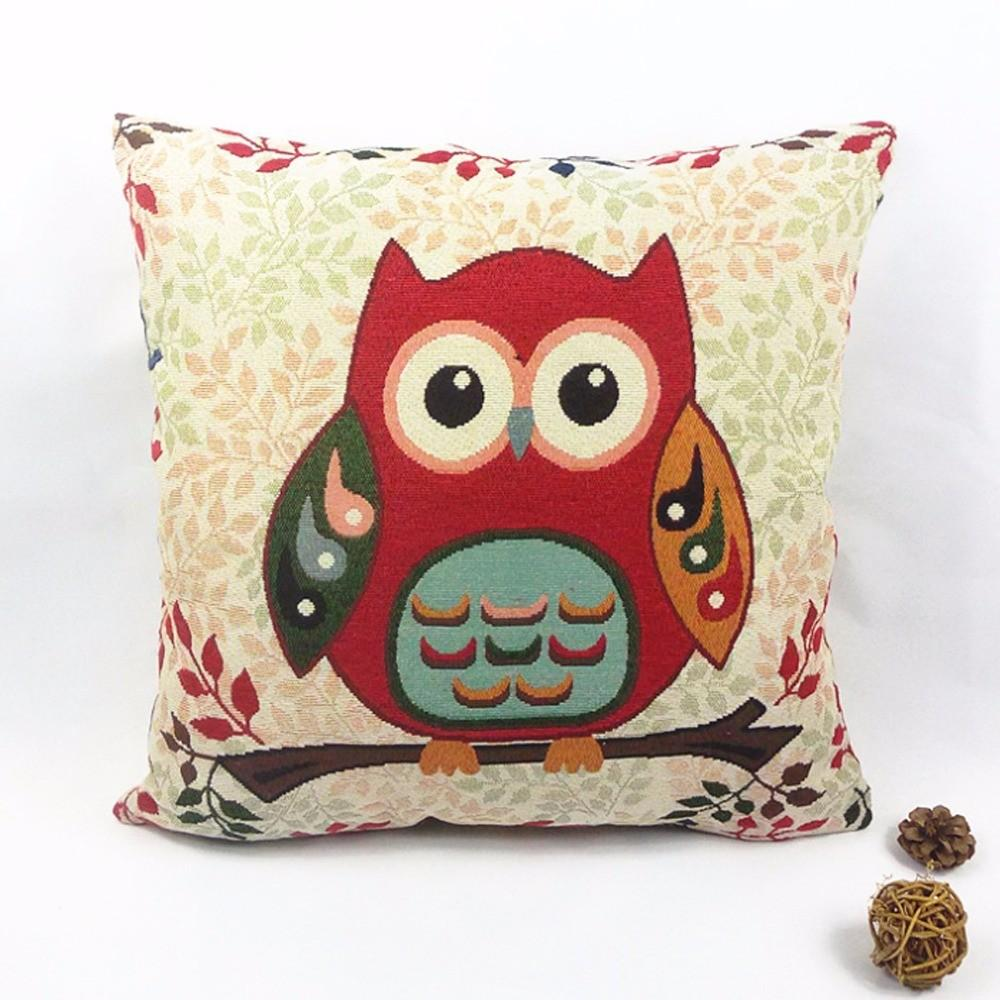 Pillow More Detailed Owl Printed