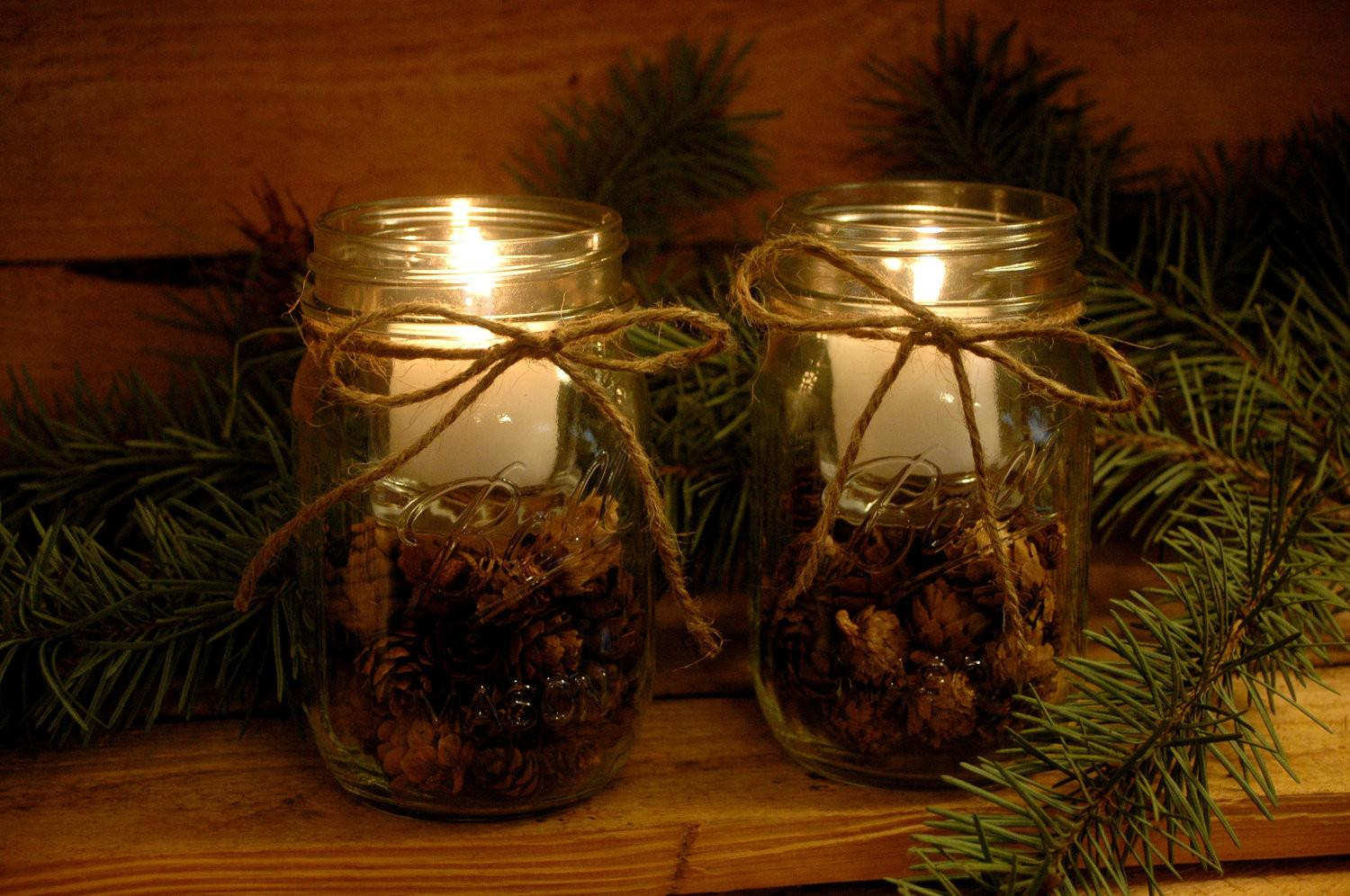 Pine Cone Candles Your Rustic Table