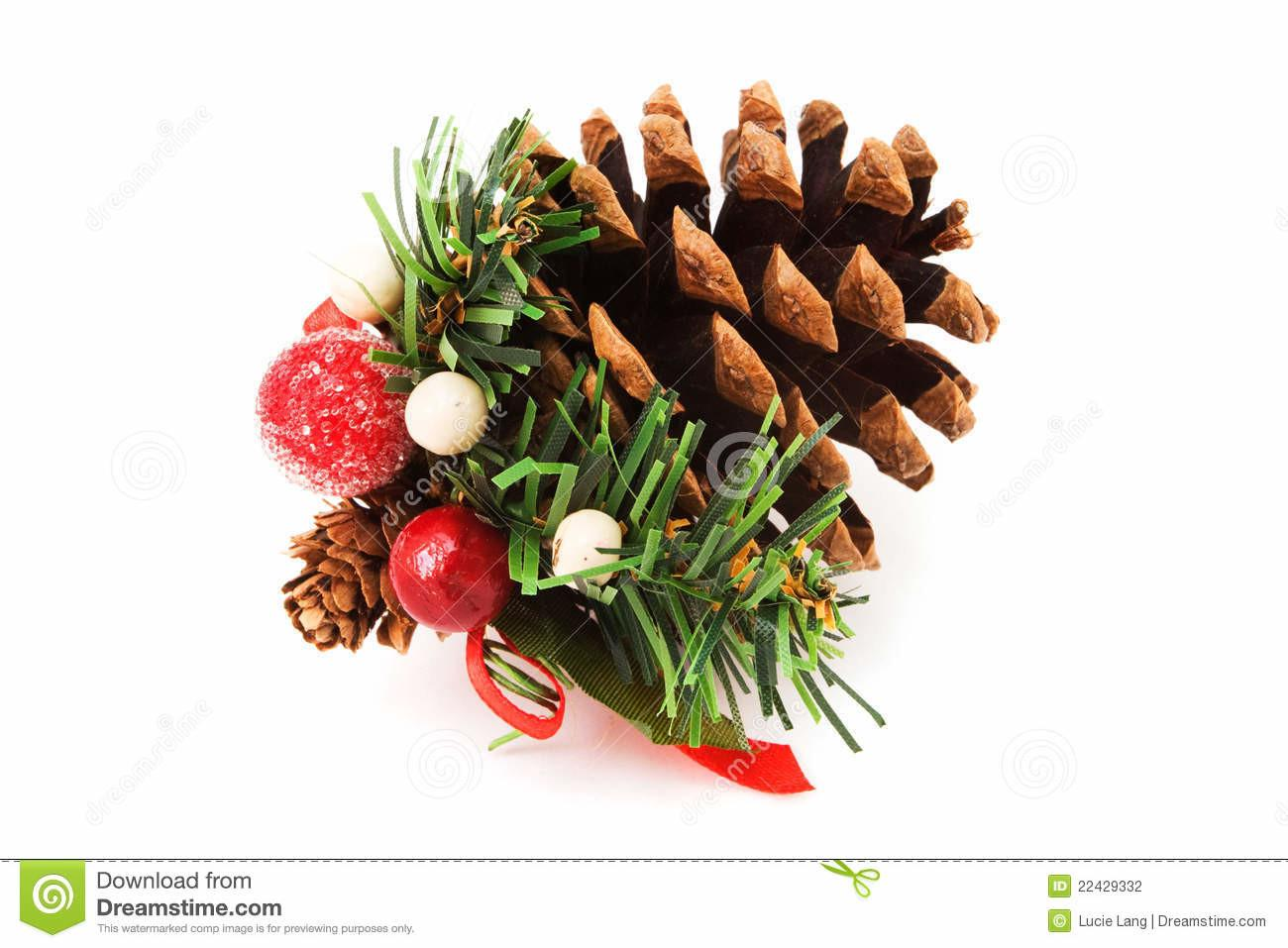 Pine Cone Christmas Decoration Stock
