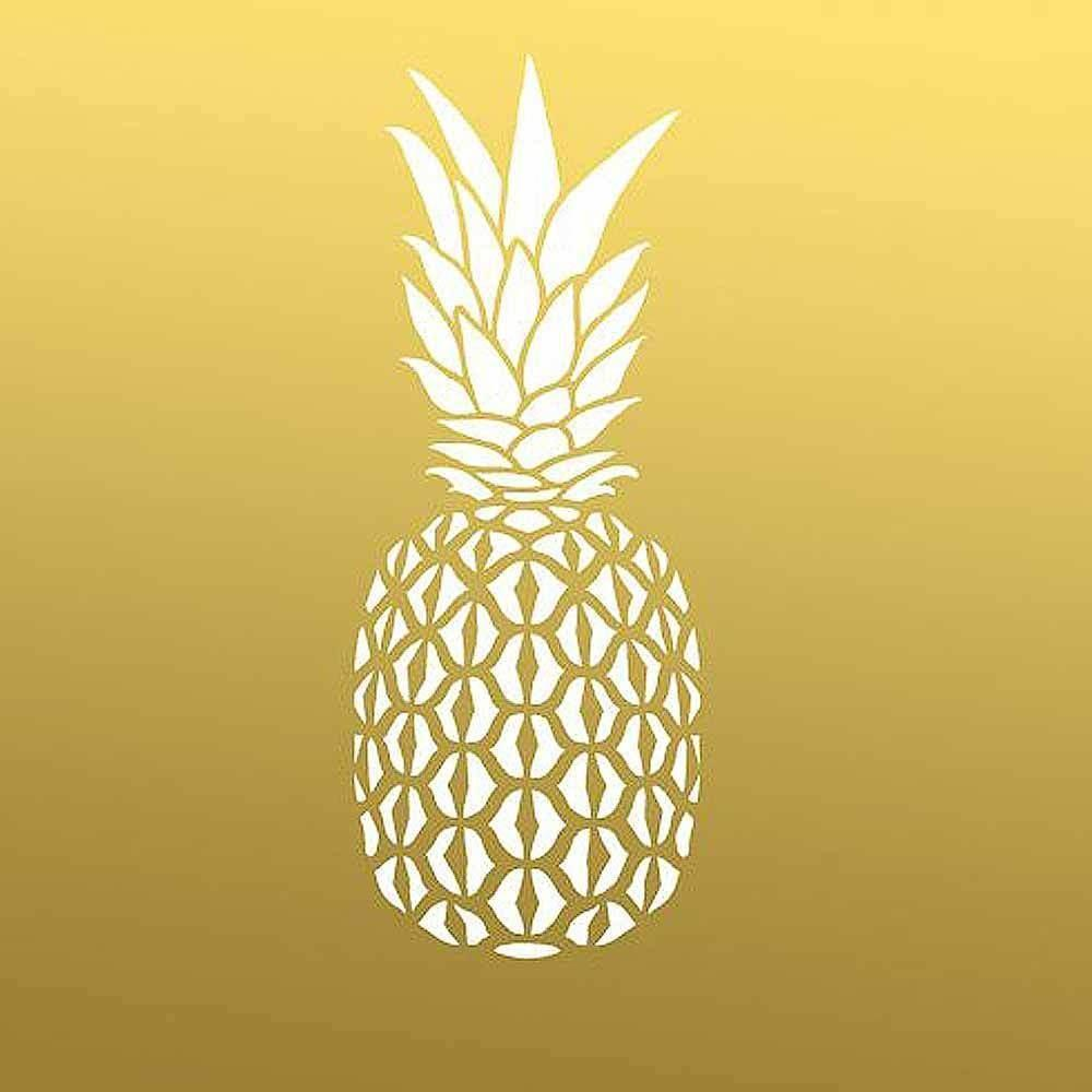 Pineapple Wall Art Stencil Medium Trendy Tropical Diy