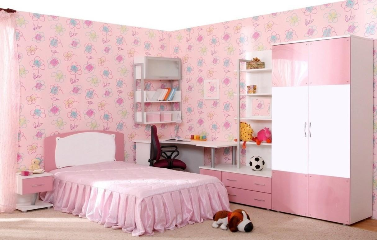 Pink Bedroom Interior Design Female Students