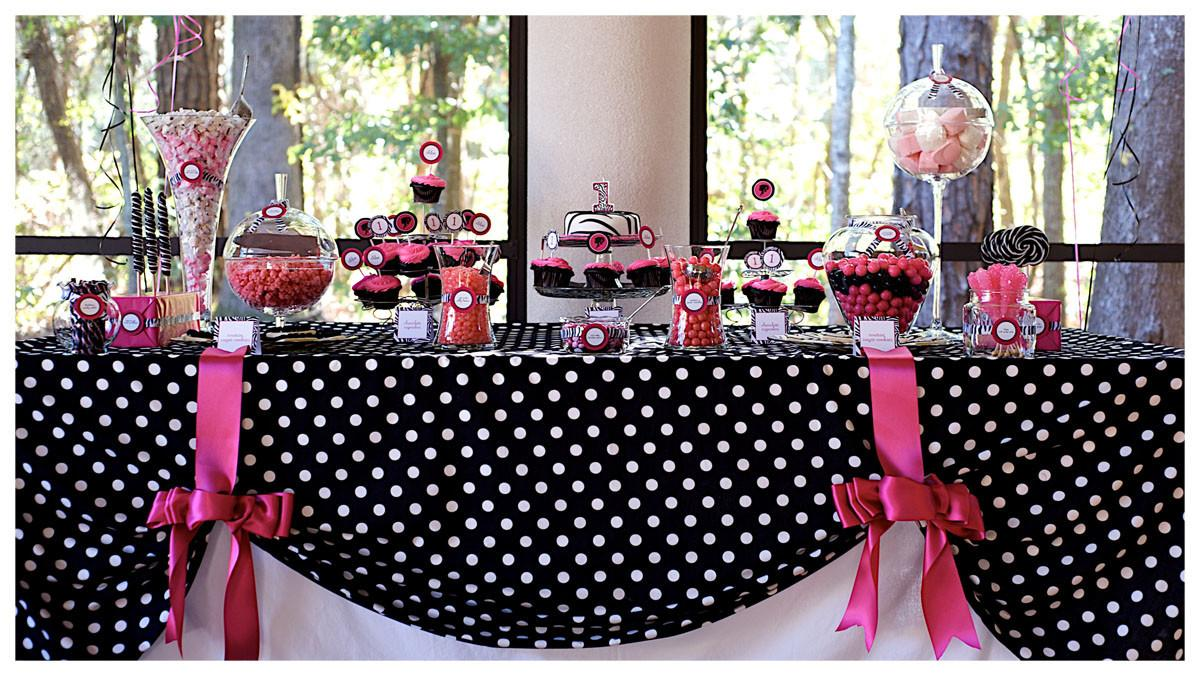 Pink Black Party Decorations High