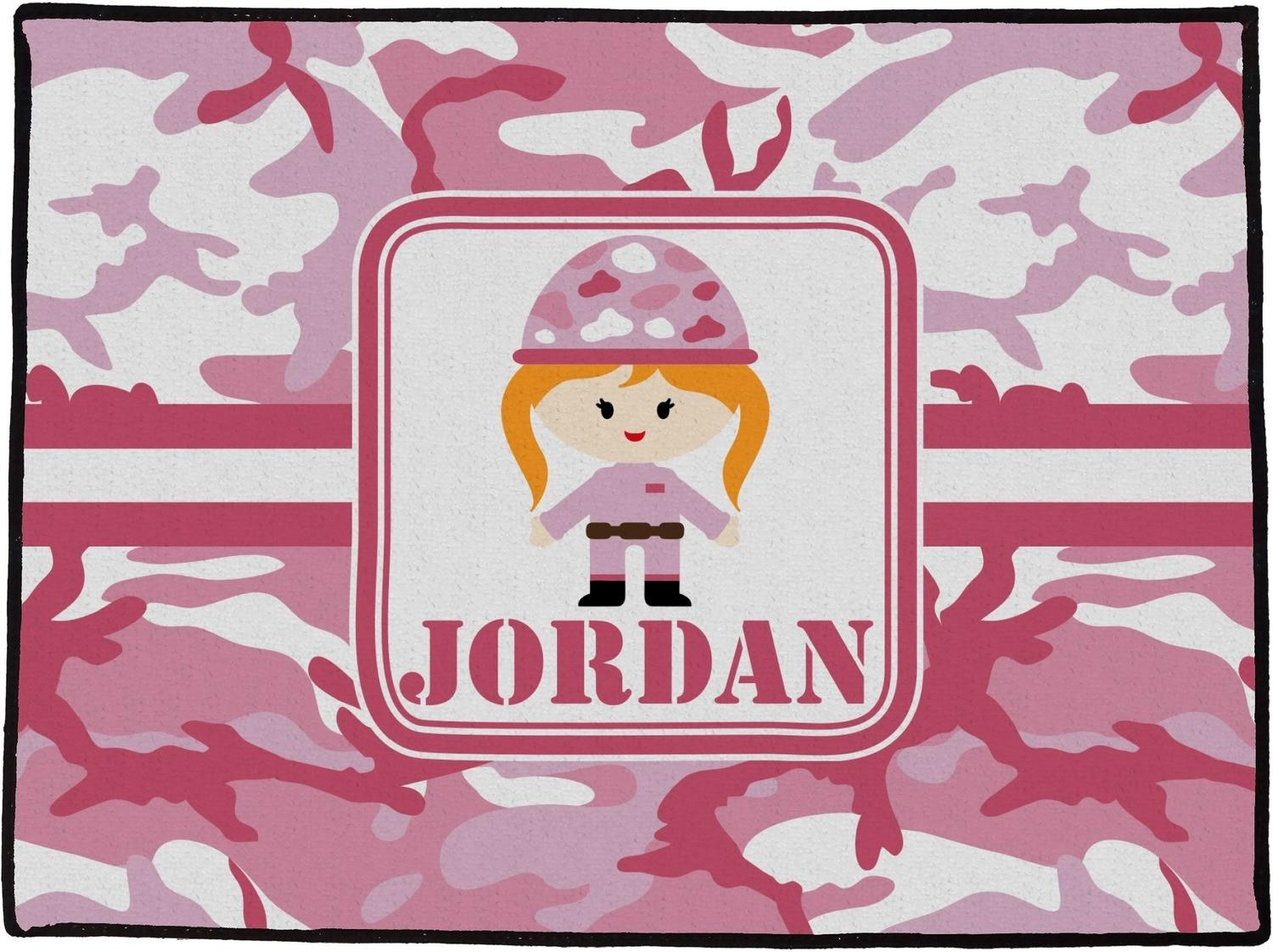 Pink Camo Doormat X36 Personalized Youcustomizeit