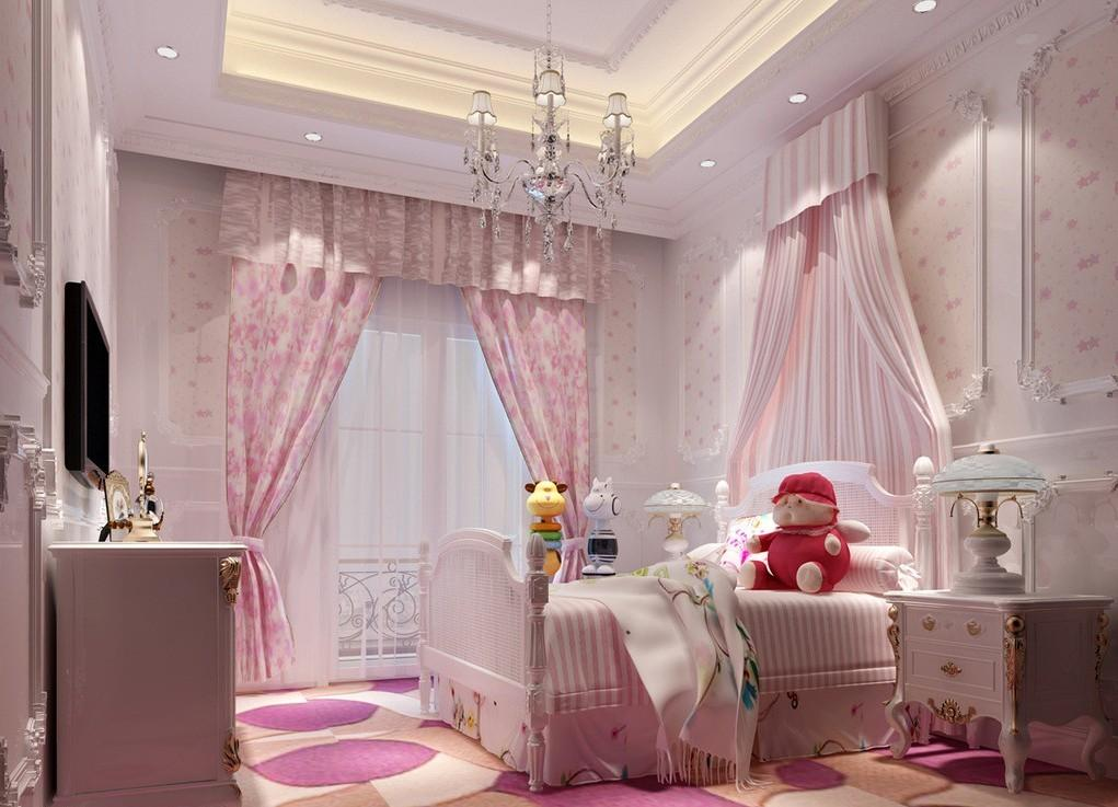 Pink Children Bedroom Interior Design Villa