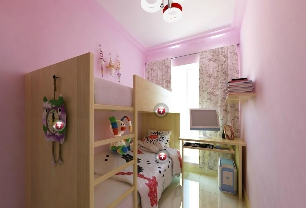 Pink Children Room Interior Design