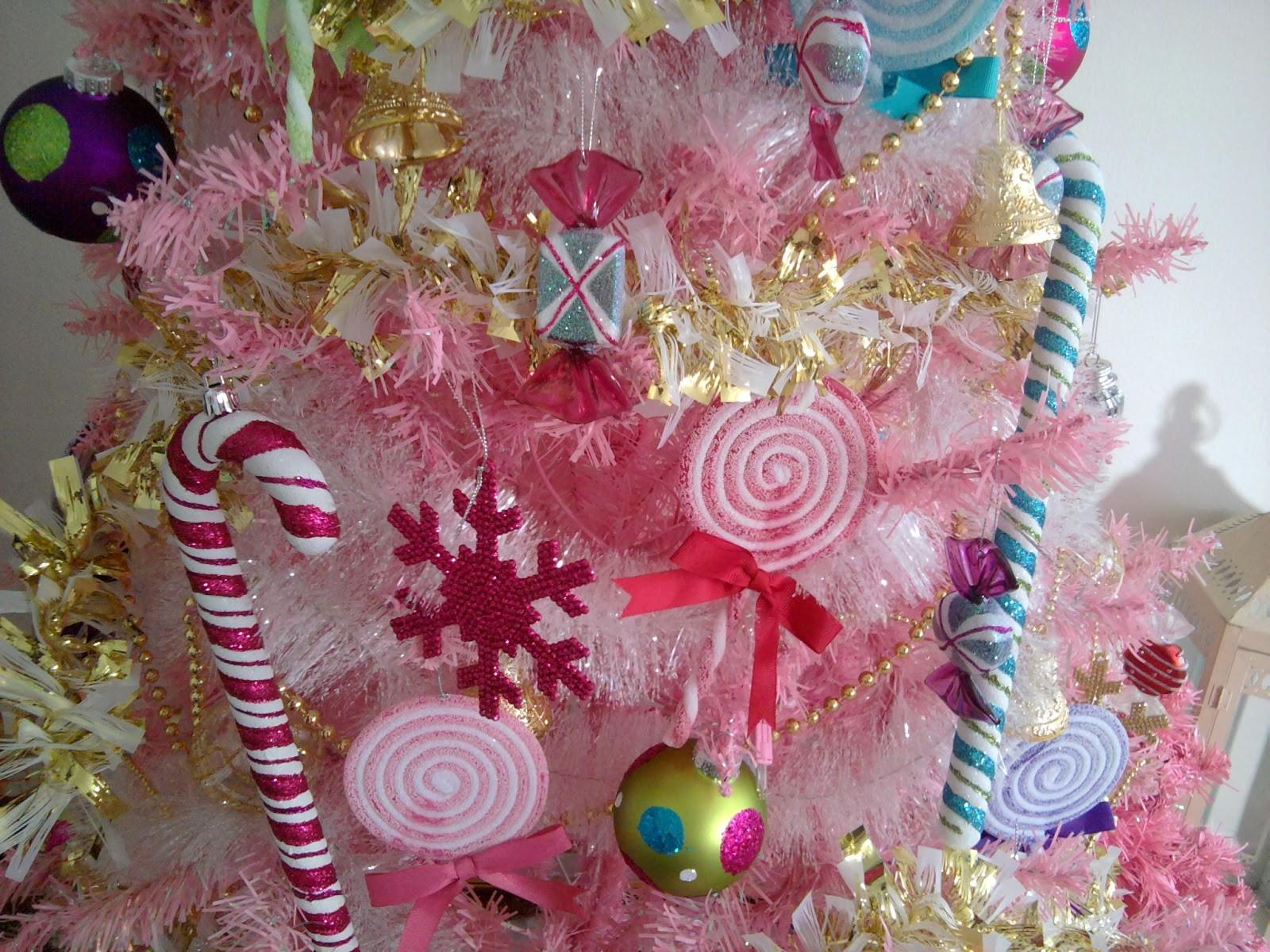 Pink Christmas Decorations Wide