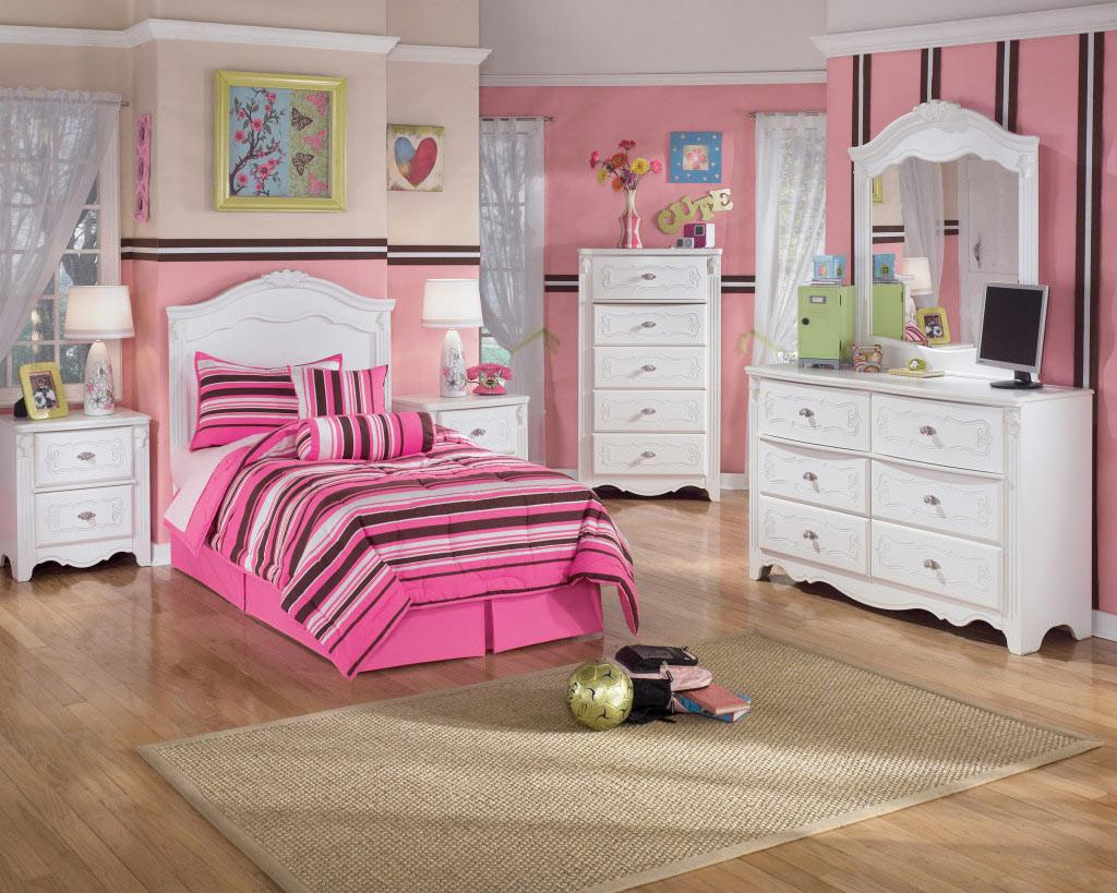 Pink Girls Bedroom Furniture Makeover Before