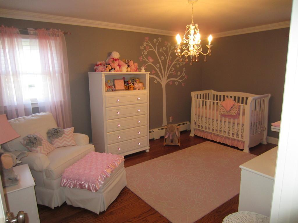Pink Gray Classic Girly Nursery Project