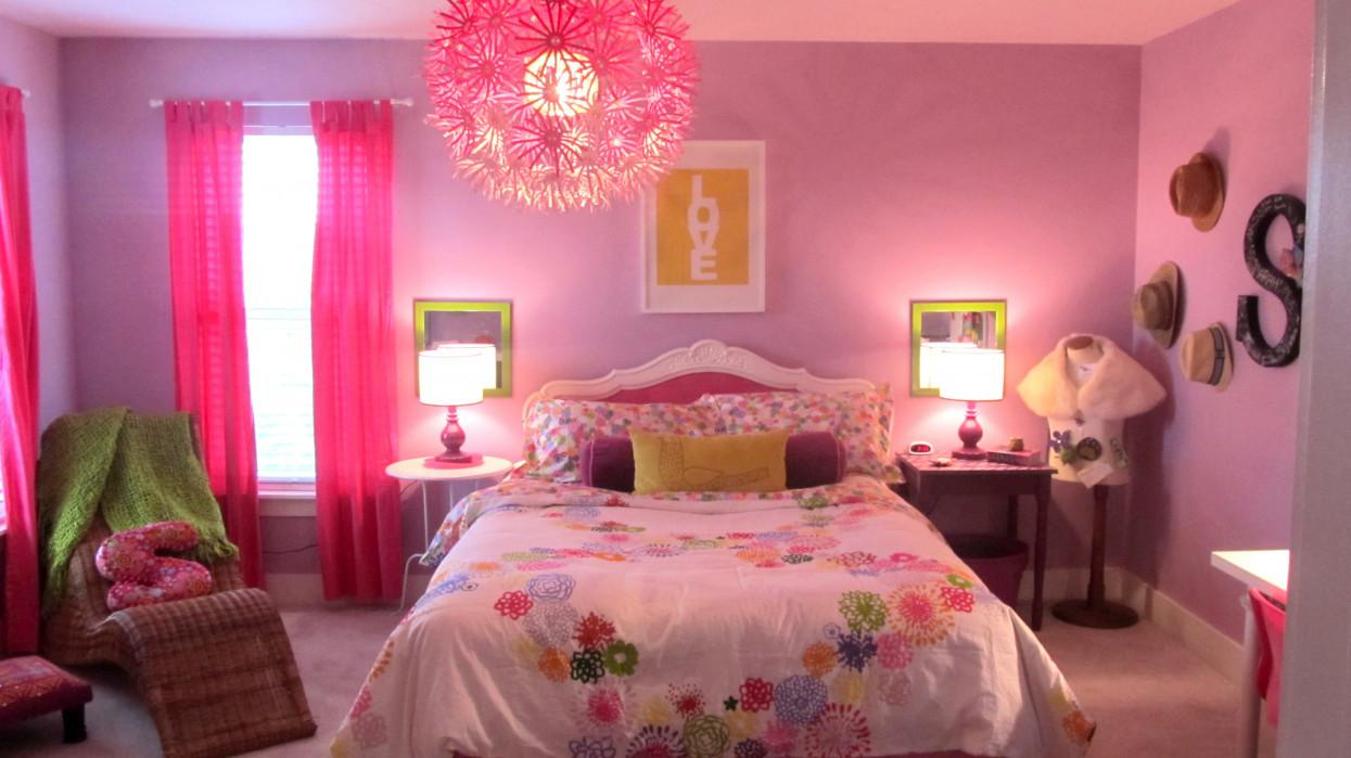 Pink Green Girls Room Interior Design Small Bedroom