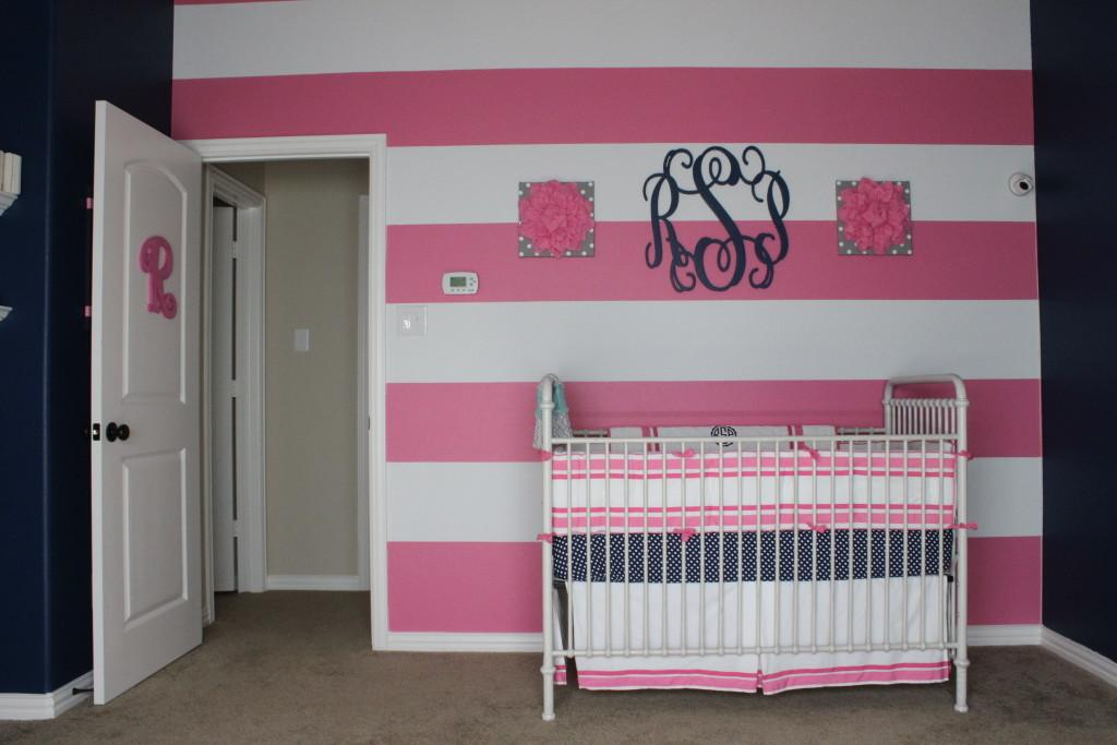 Pink Grey Navy Nursery Project