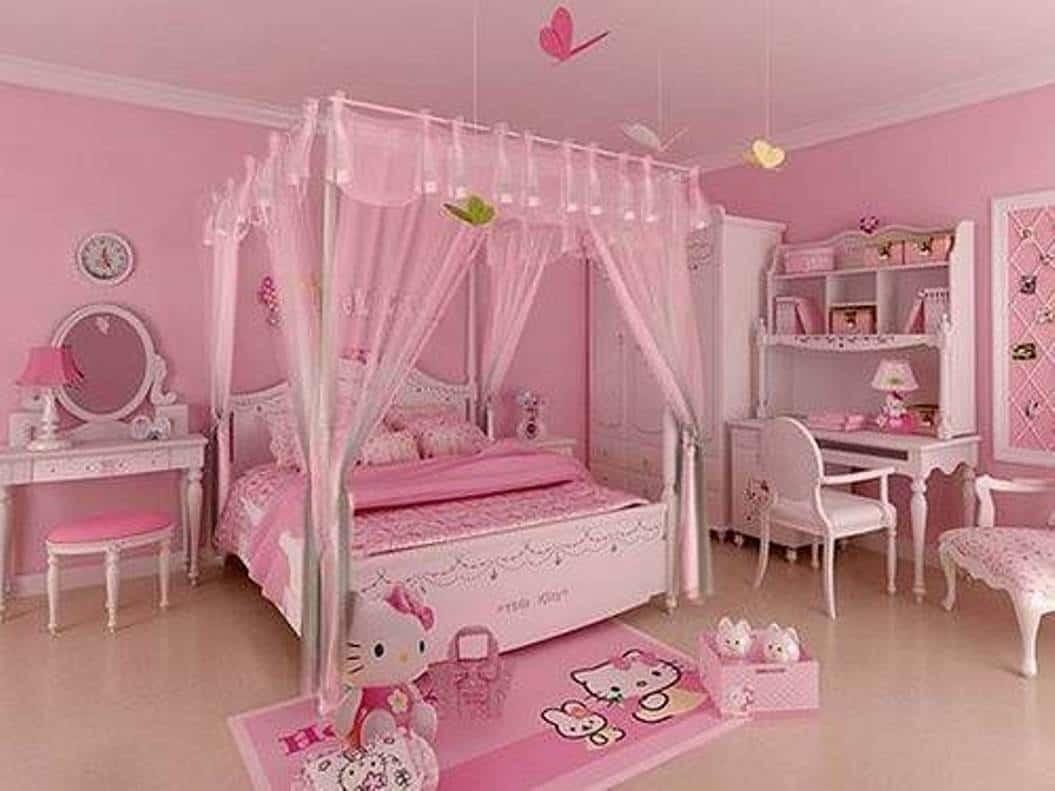 Pink Hello Kitty Bedrooms Cute