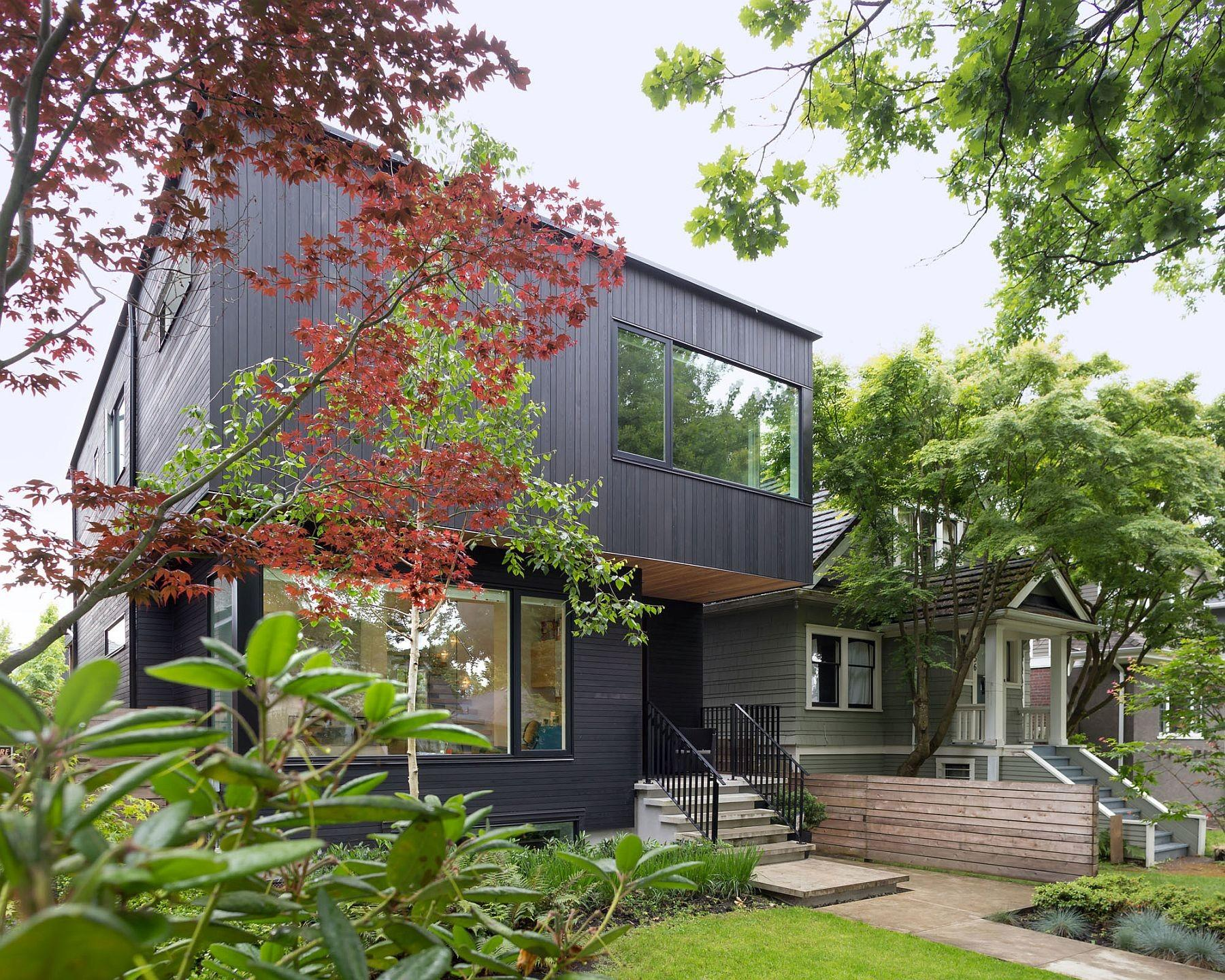 Pink House Stained Cedar Exterior Conceals Clean Modern