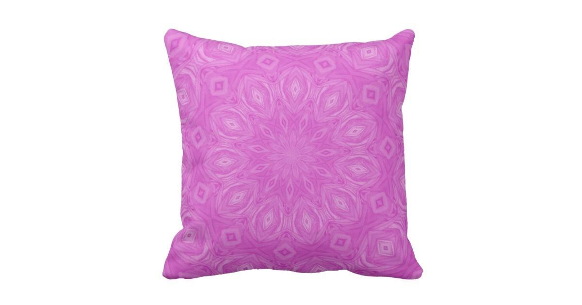 Pink Kaleidoscope Pillow Zazzle